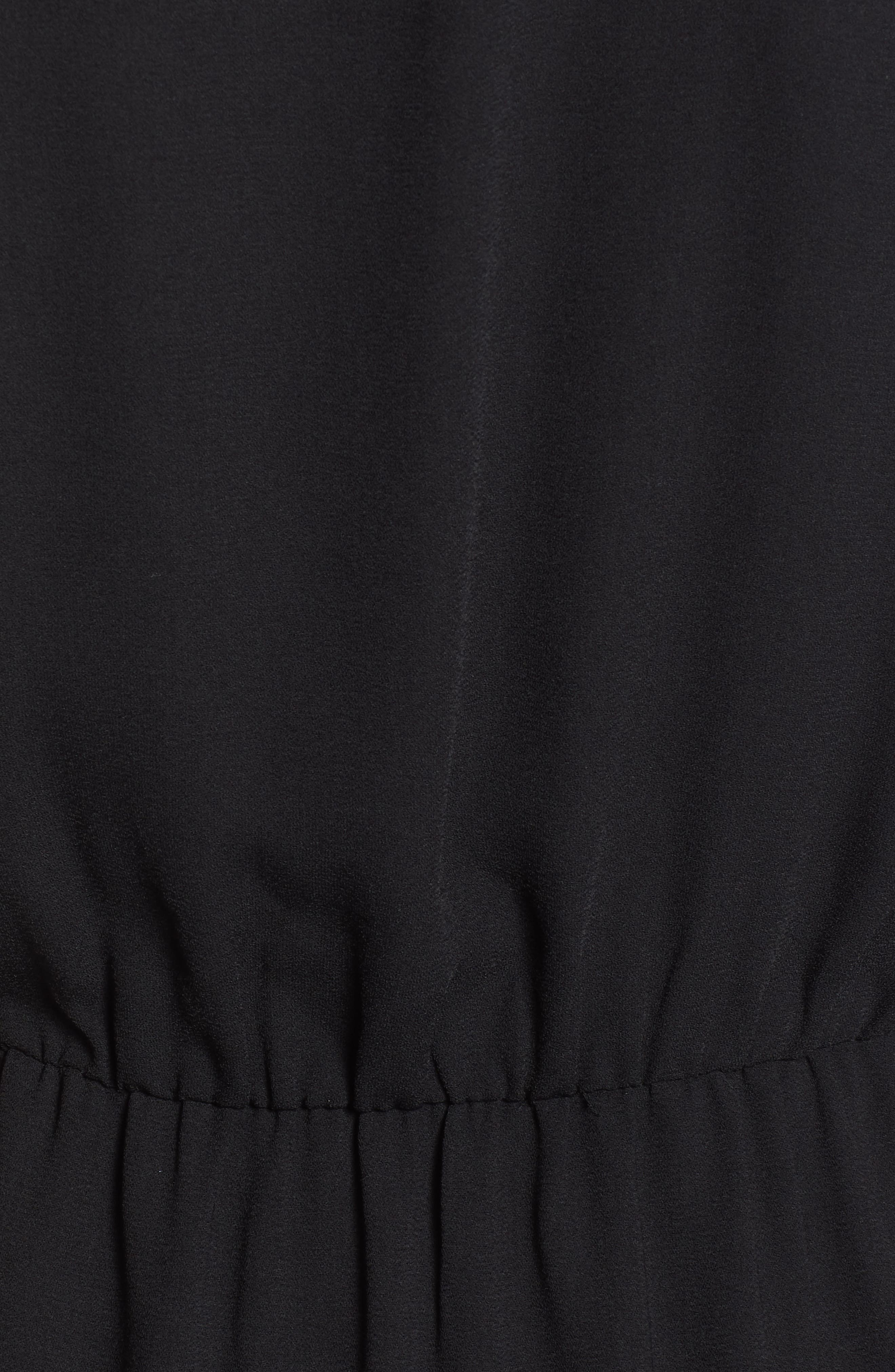 HALOGEN<SUP>®</SUP>, V-Neck Maxi Dress, Alternate thumbnail 6, color, BLACK