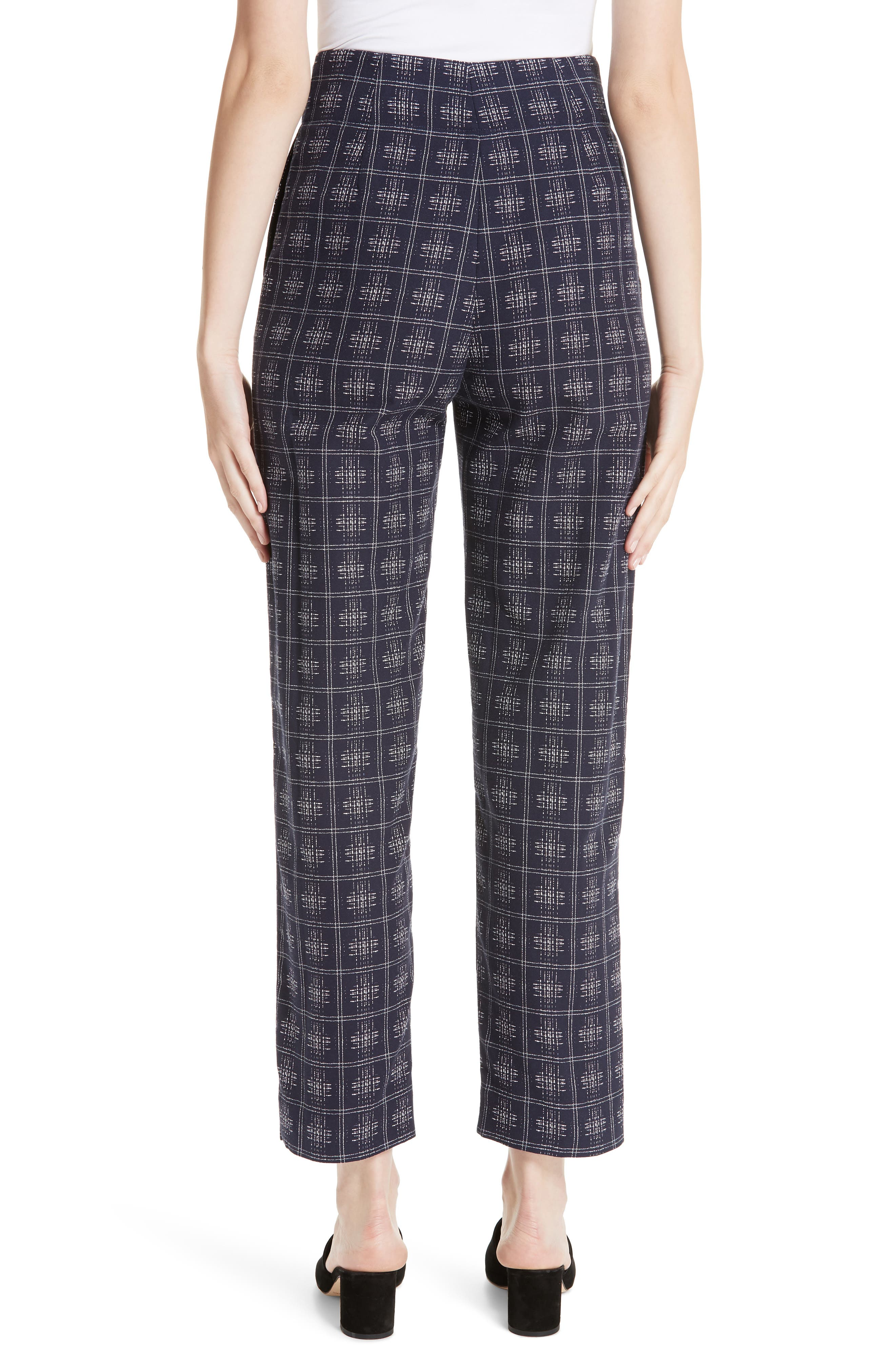 PALMER/HARDING, Fractured Trousers, Alternate thumbnail 2, color, NAVY CROSSHATCH CHECK