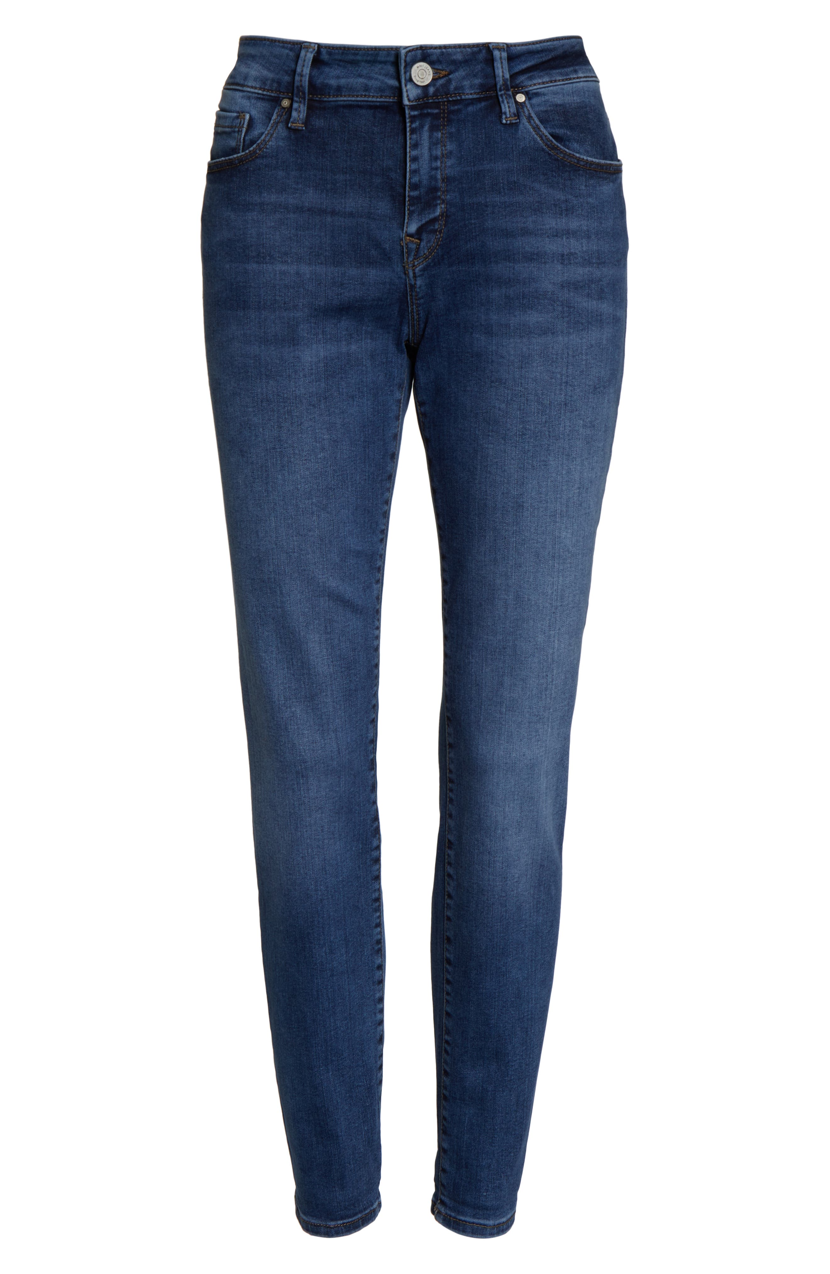 MAVI JEANS, Ada Slim Jeans, Alternate thumbnail 5, color, MID INDIGO TRIBECA