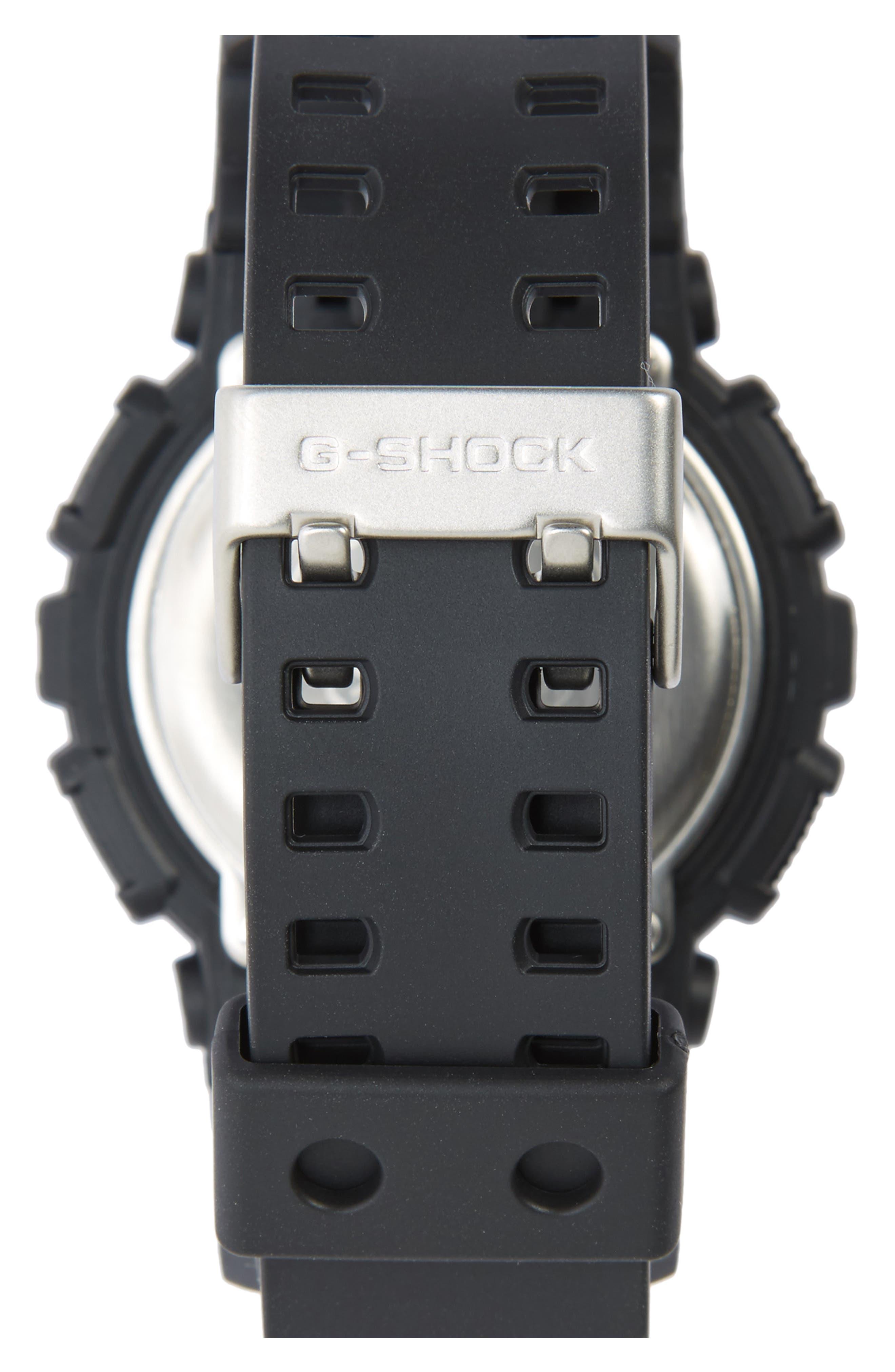G-SHOCK BABY-G, G-Shock 'Super Luminosity' Digital Watch, 48mm, Alternate thumbnail 2, color, BLACK