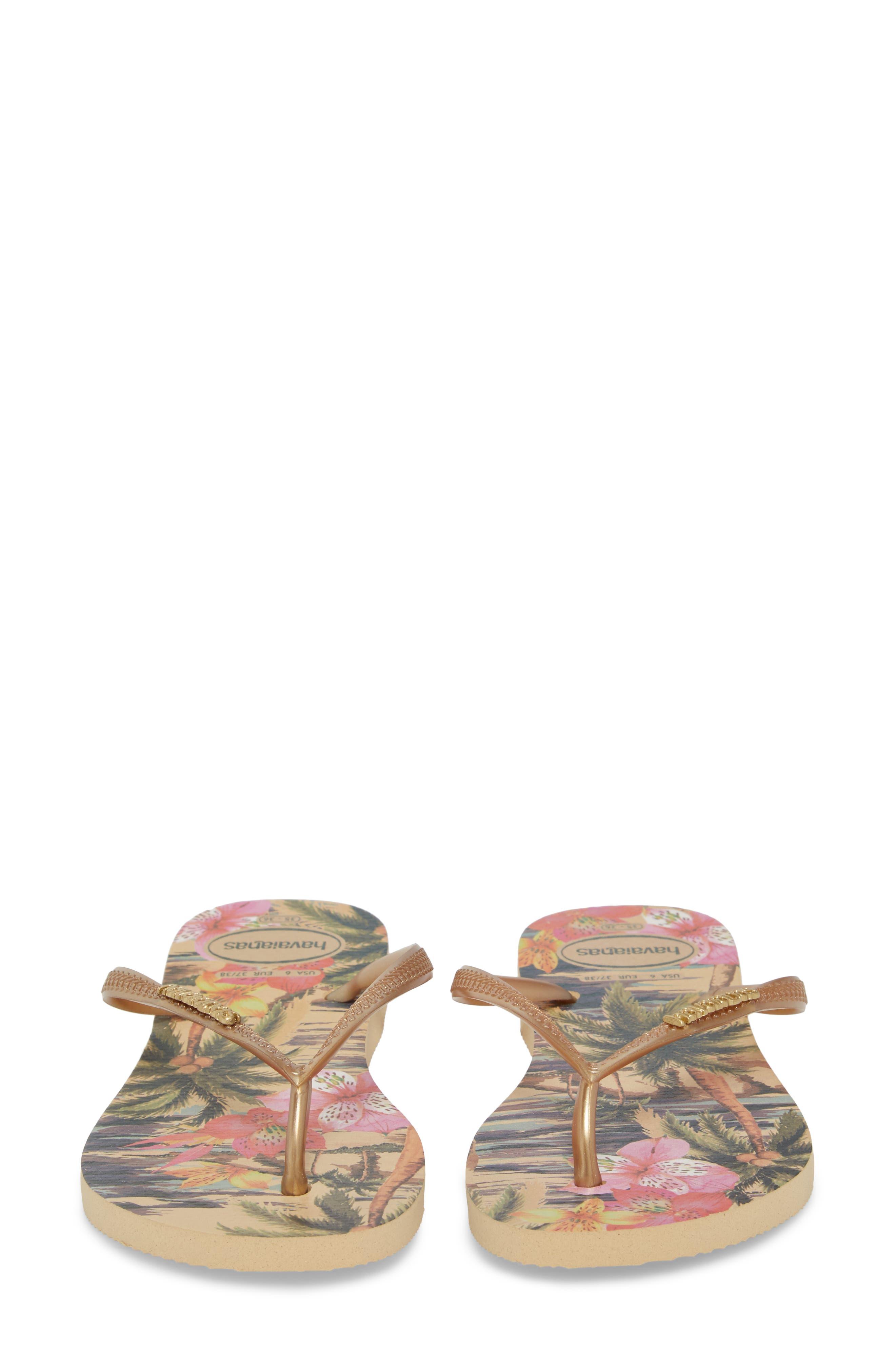 HAVAIANAS, 'Slim Tropical' Flip Flop, Alternate thumbnail 5, color, IVORY