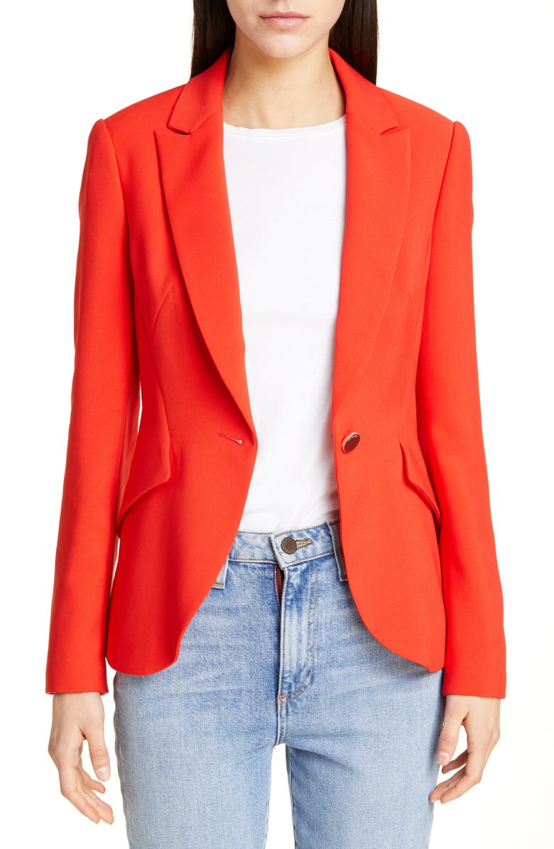TED BAKER LONDON Anita Angular Jacket, Main, color, DARK ORANGE
