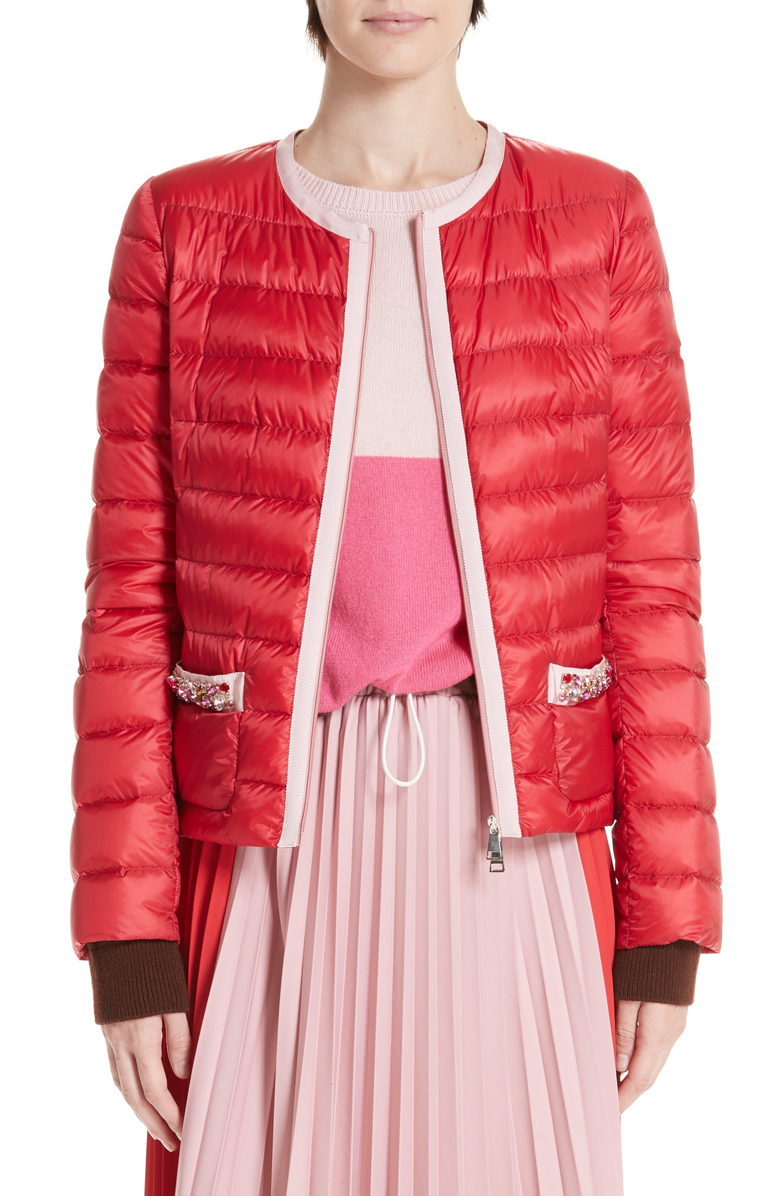 MONCLER Cristalline Jacket, Main, color, RED