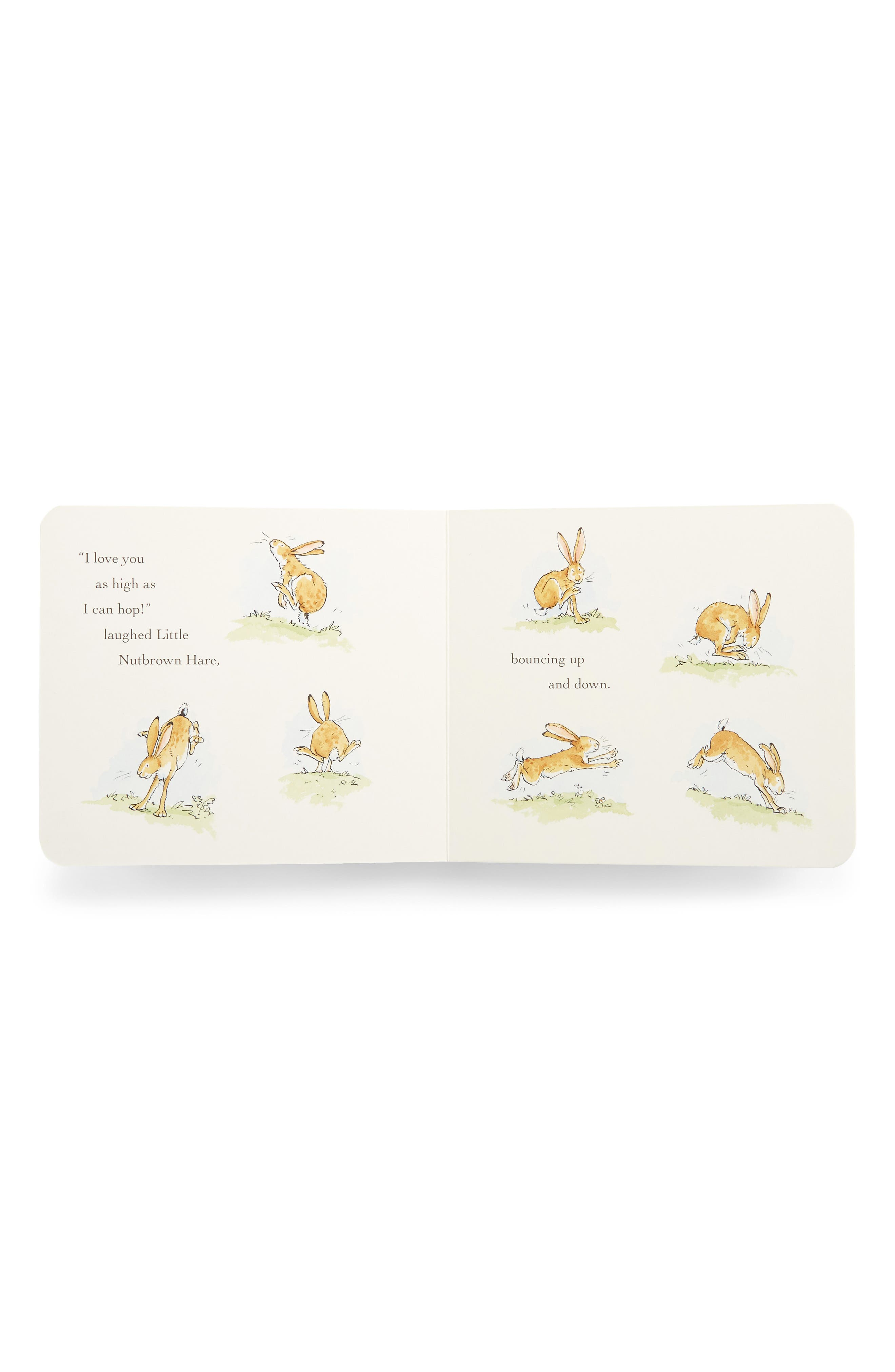 PENGUIN RANDOM HOUSE, 'Guess How Much I Love You' Board Book & Stuffed Animal Set, Alternate thumbnail 2, color, LIGHT BEIGE