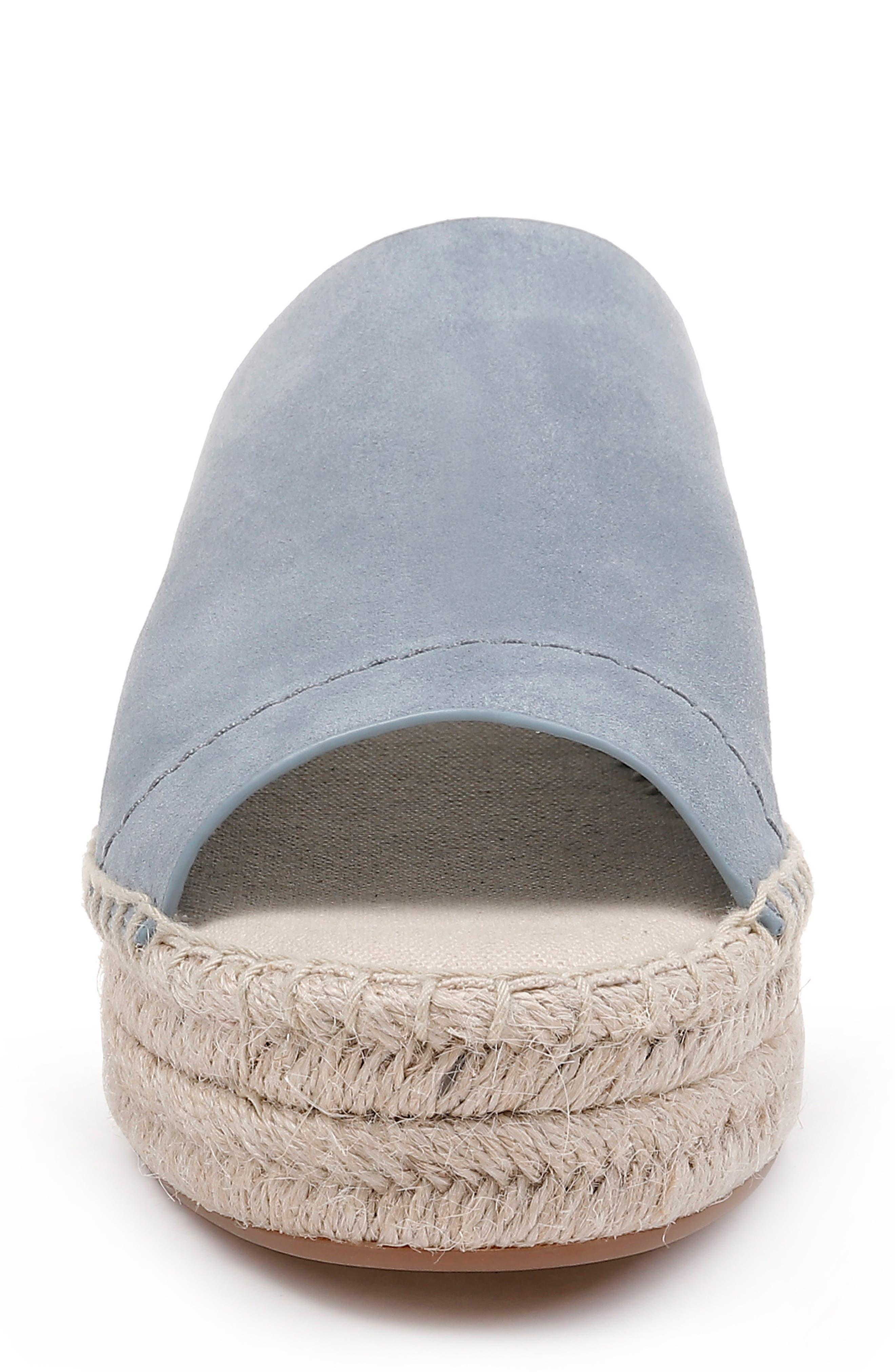 SPLENDID, Thaddeus Espadrille Slide Sandal, Alternate thumbnail 4, color, LIGHT BLUE SUEDE