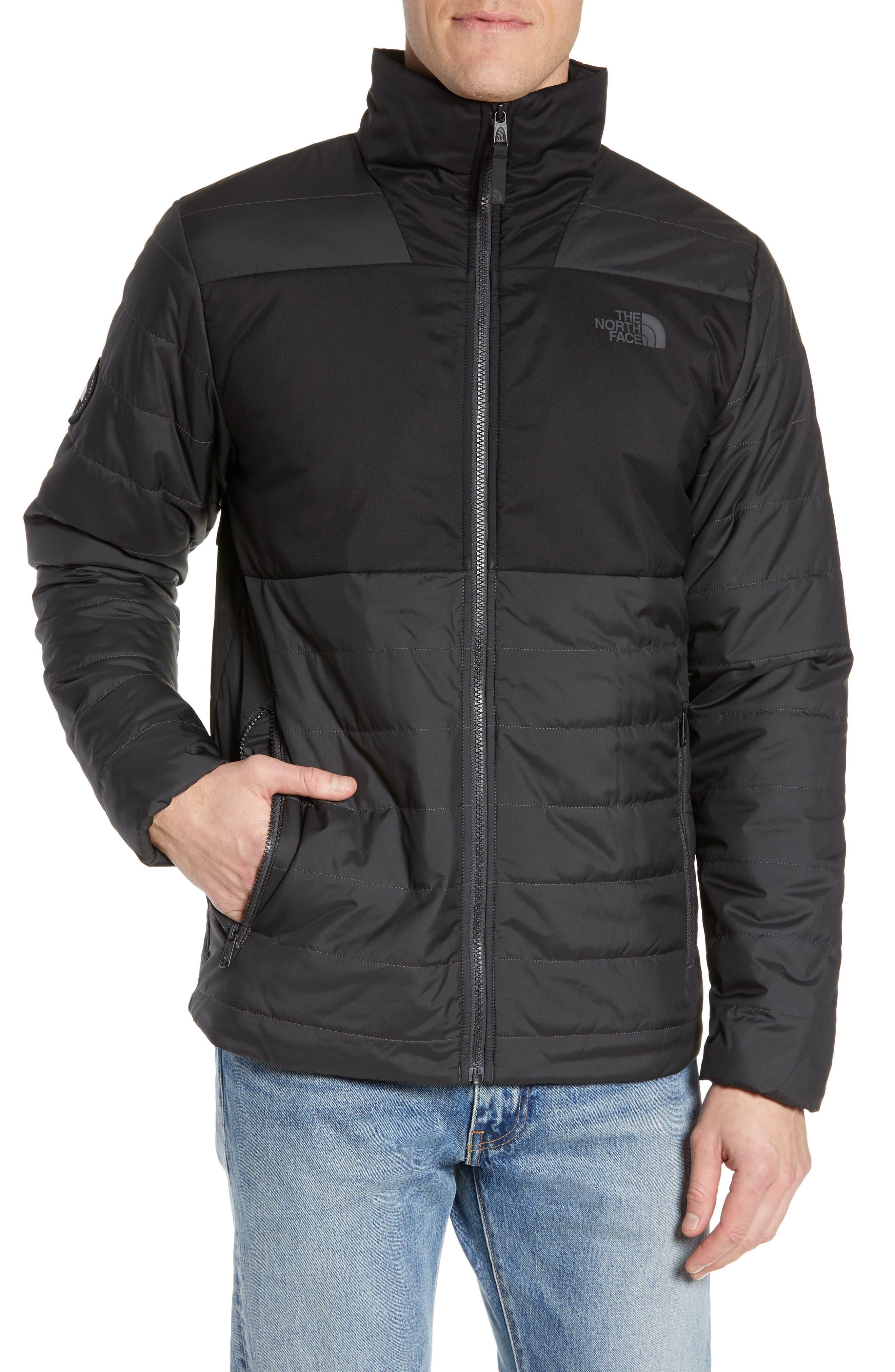 THE NORTH FACE, Insulated Jacket, Alternate thumbnail 5, color, TNF BLACK/ ASPHALT GREY