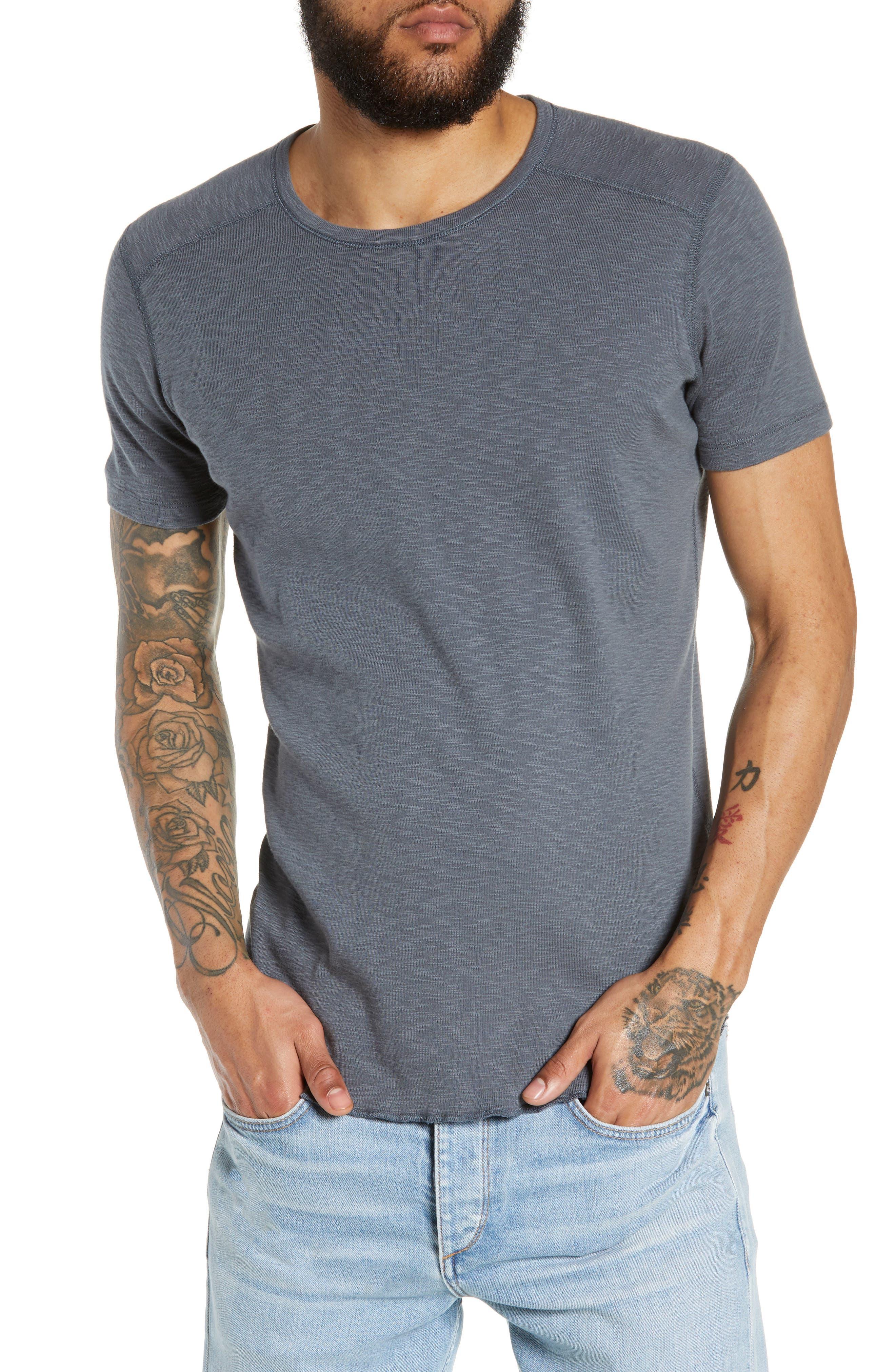 WINGS + HORNS Ribbed Slub Cotton T-Shirt, Main, color, SHADOW