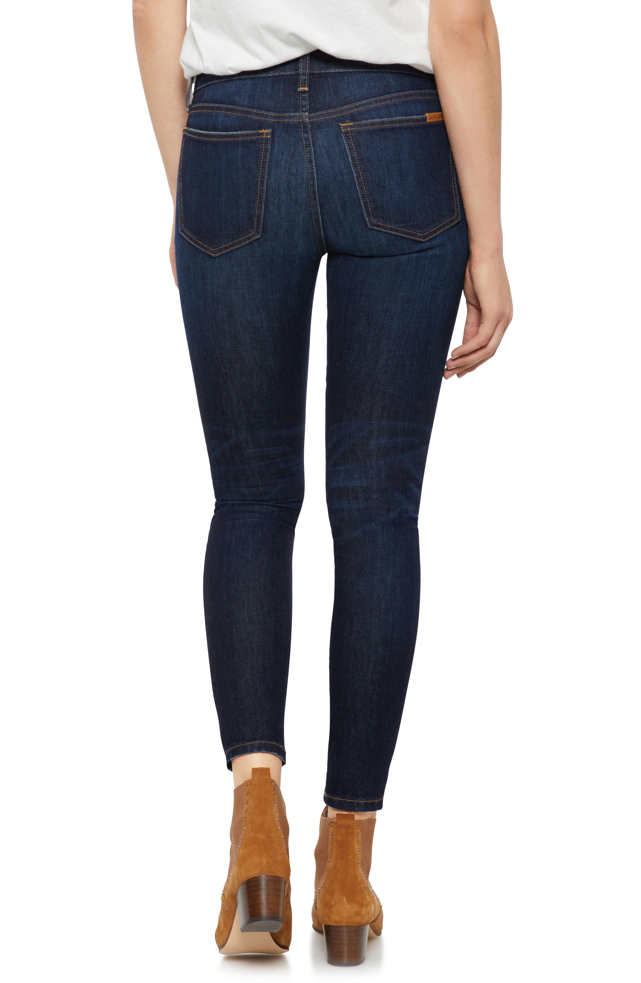 JOE'S, Icon Ankle Skinny Jeans, Alternate thumbnail 2, color, GIANNA