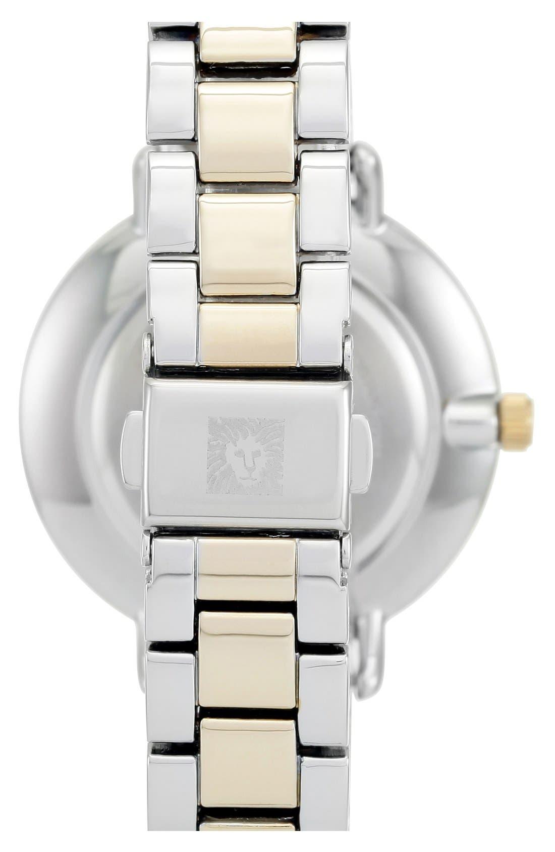 ANNE KLEIN, Round Bracelet Watch, 36mm, Alternate thumbnail 3, color, 040