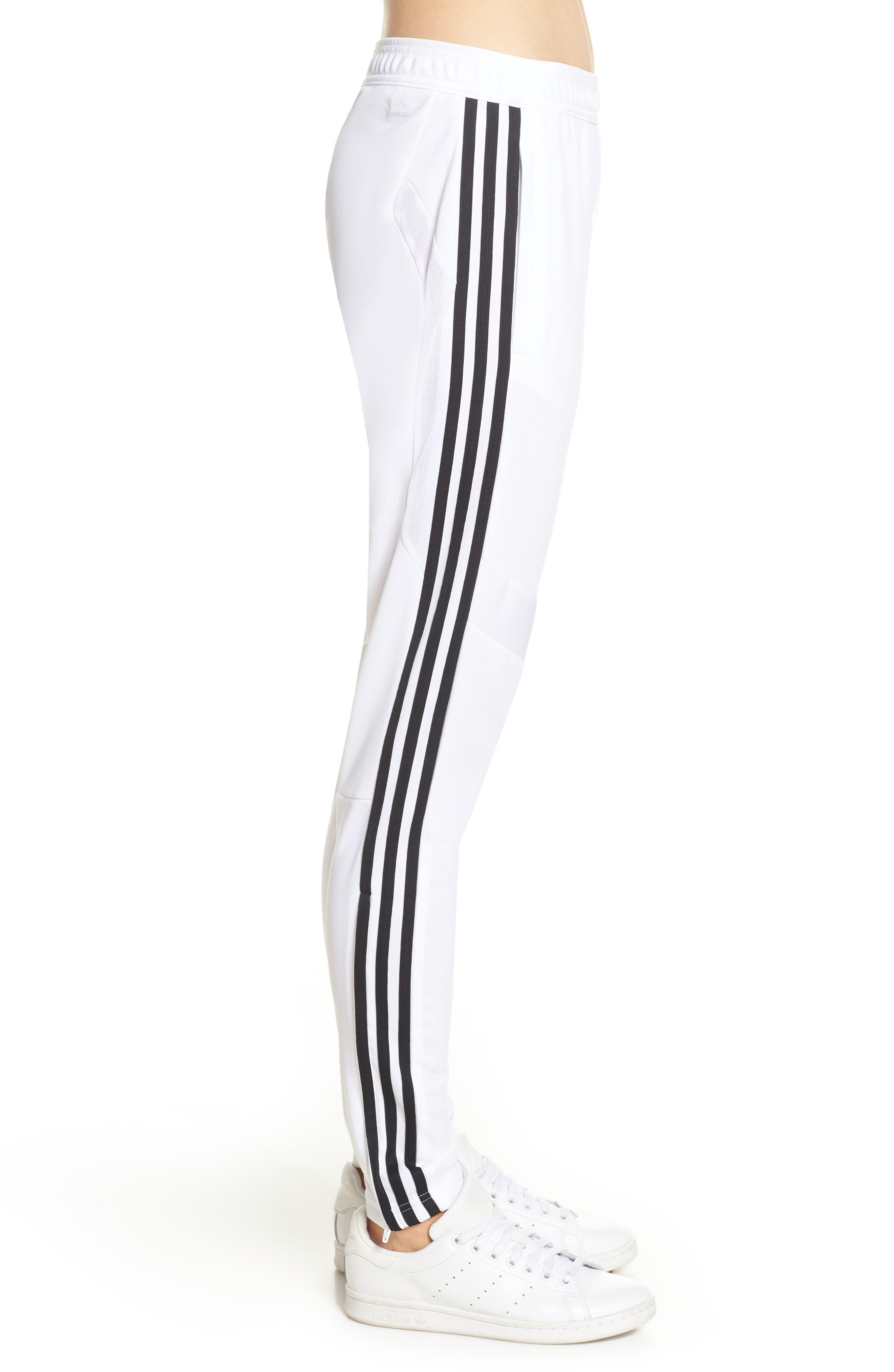 ADIDAS, Tiro 19 Training Pants, Alternate thumbnail 4, color, WHITE/ BLACK