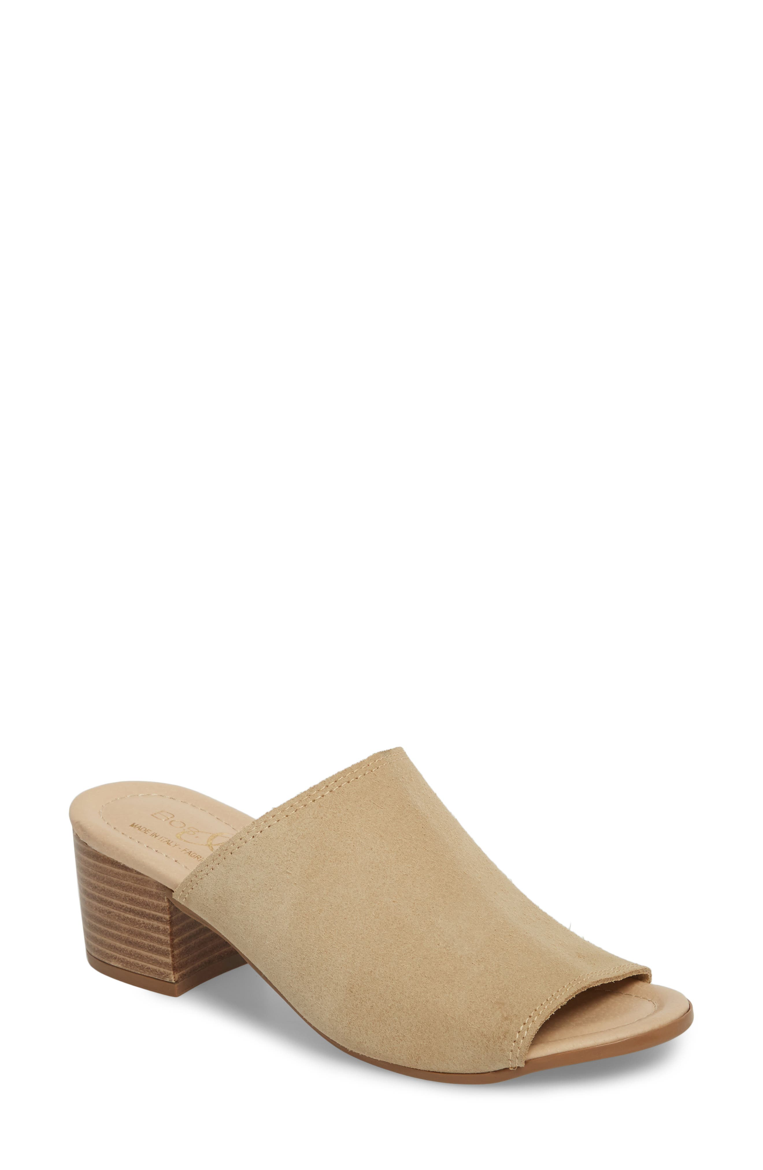 BOS. & CO., Fawn Mule, Main thumbnail 1, color, SAND CROSTA LEATHER