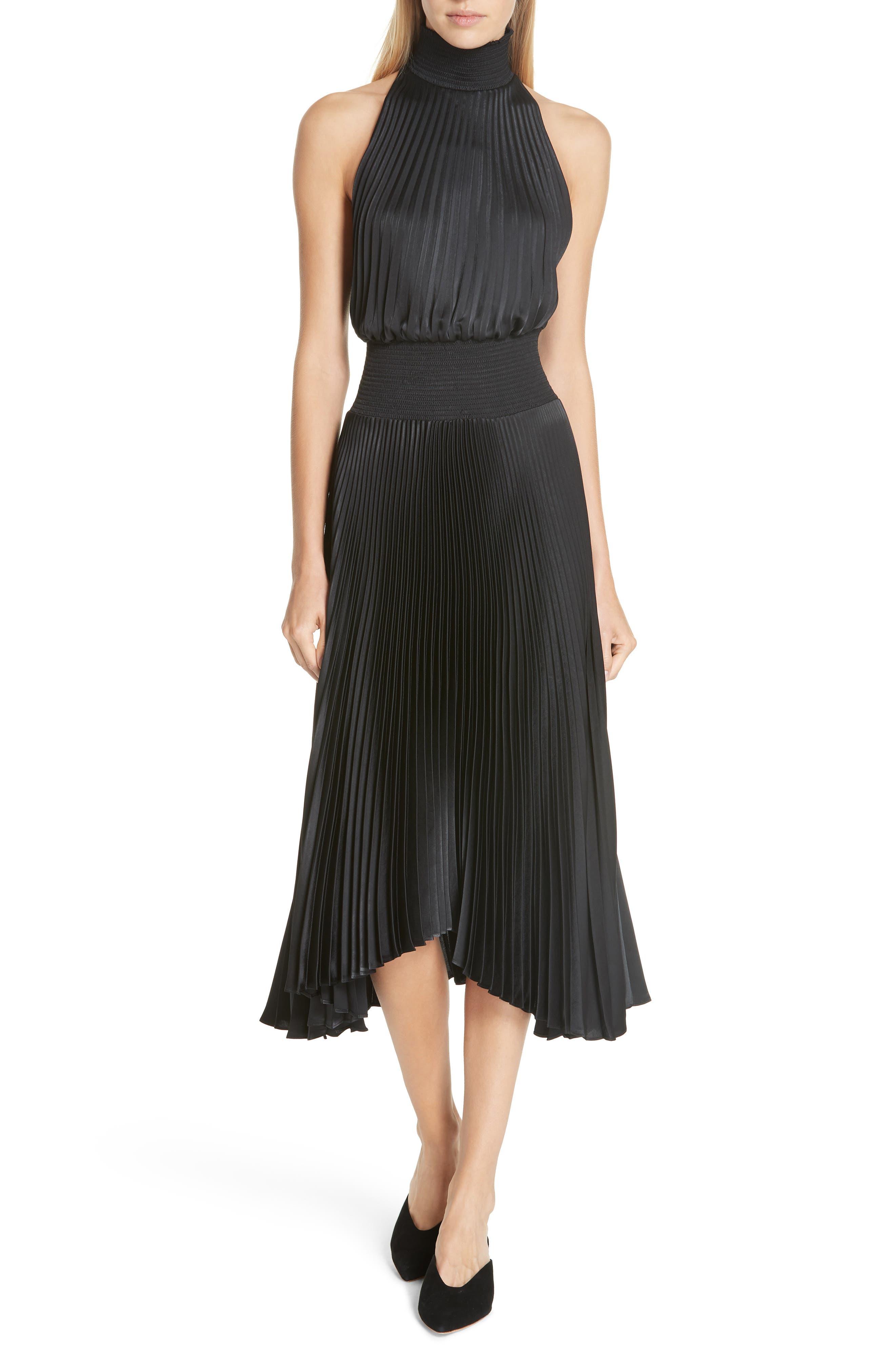 A.l.c. Renzo Pleated Dress, Black