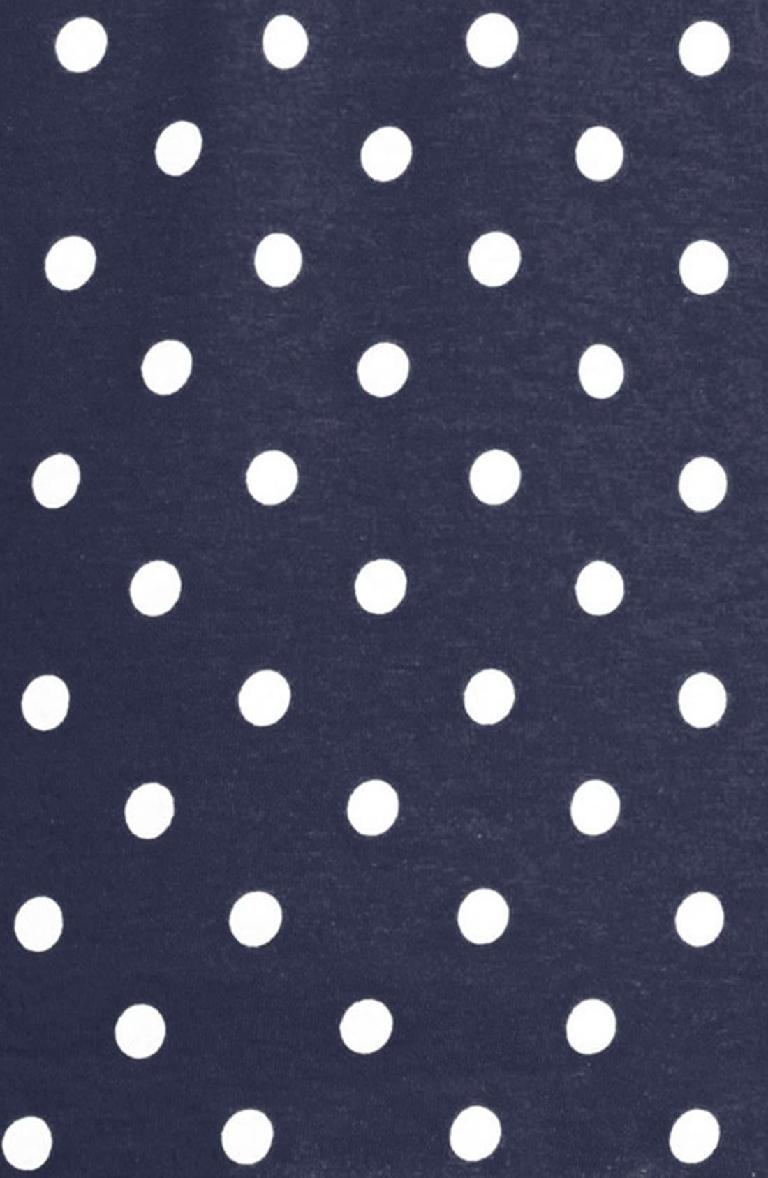 COMME DES GARÇONS PLAY, Dot Print Long Sleeve Crewneck T-Shirt, Alternate thumbnail 8, color, 419