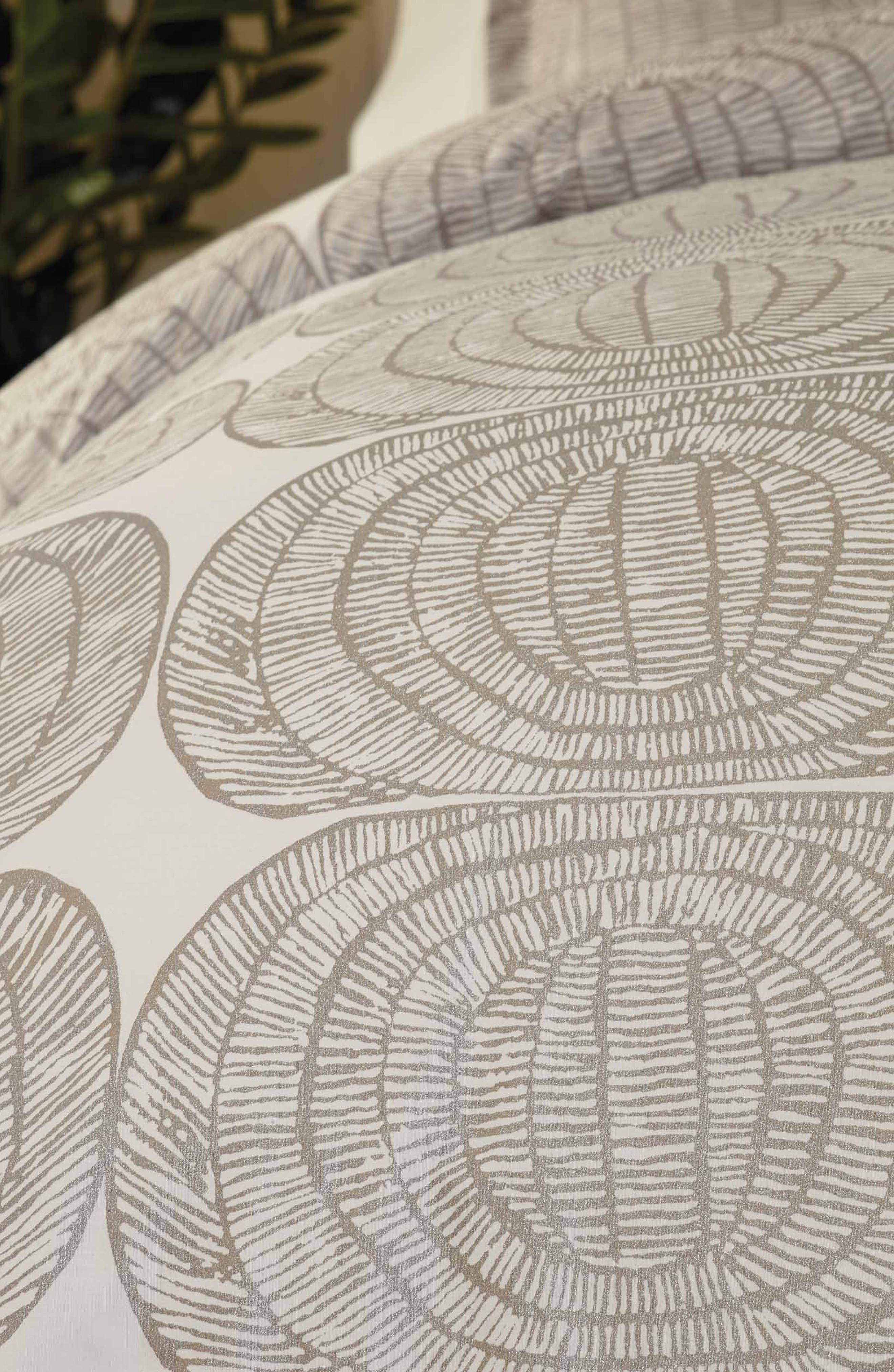 MARIMEKKO, Mehiläispesä Comforter & Sham Set, Alternate thumbnail 2, color, TAUPE