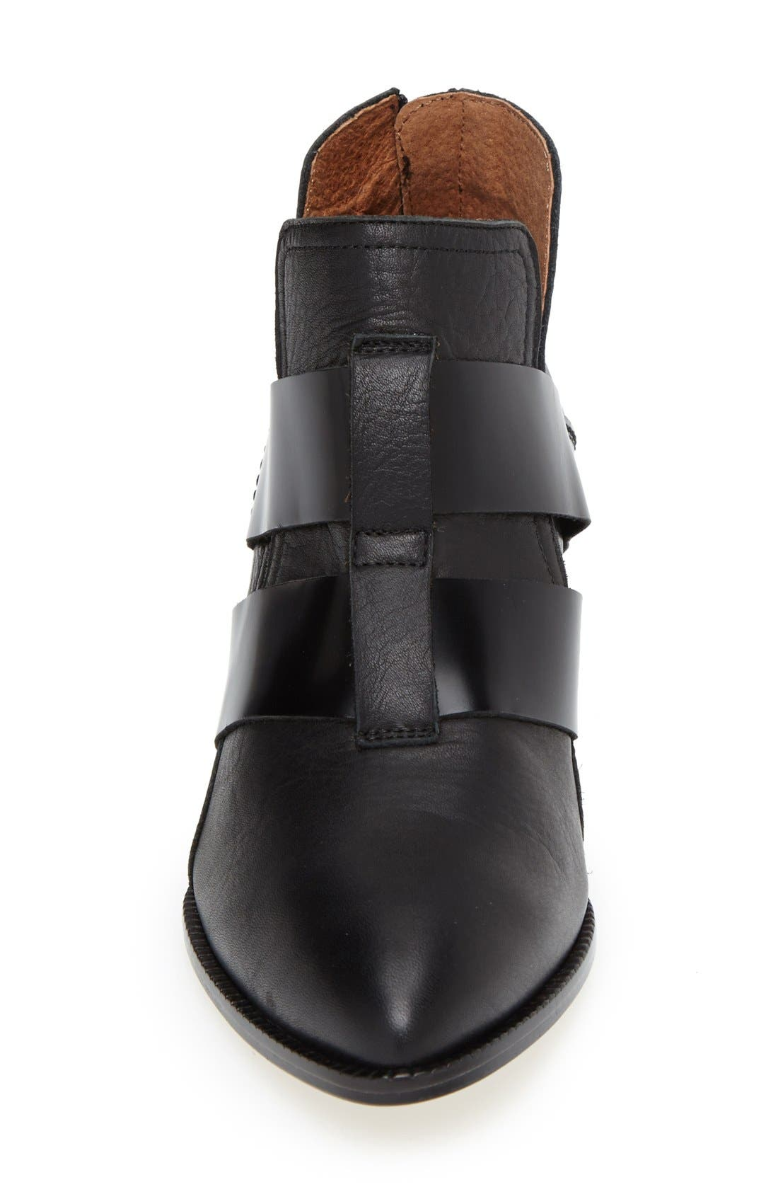 SIXTYSEVEN, 'Alice' Pointy Toe Leather Ankle Bootie, Alternate thumbnail 2, color, 001