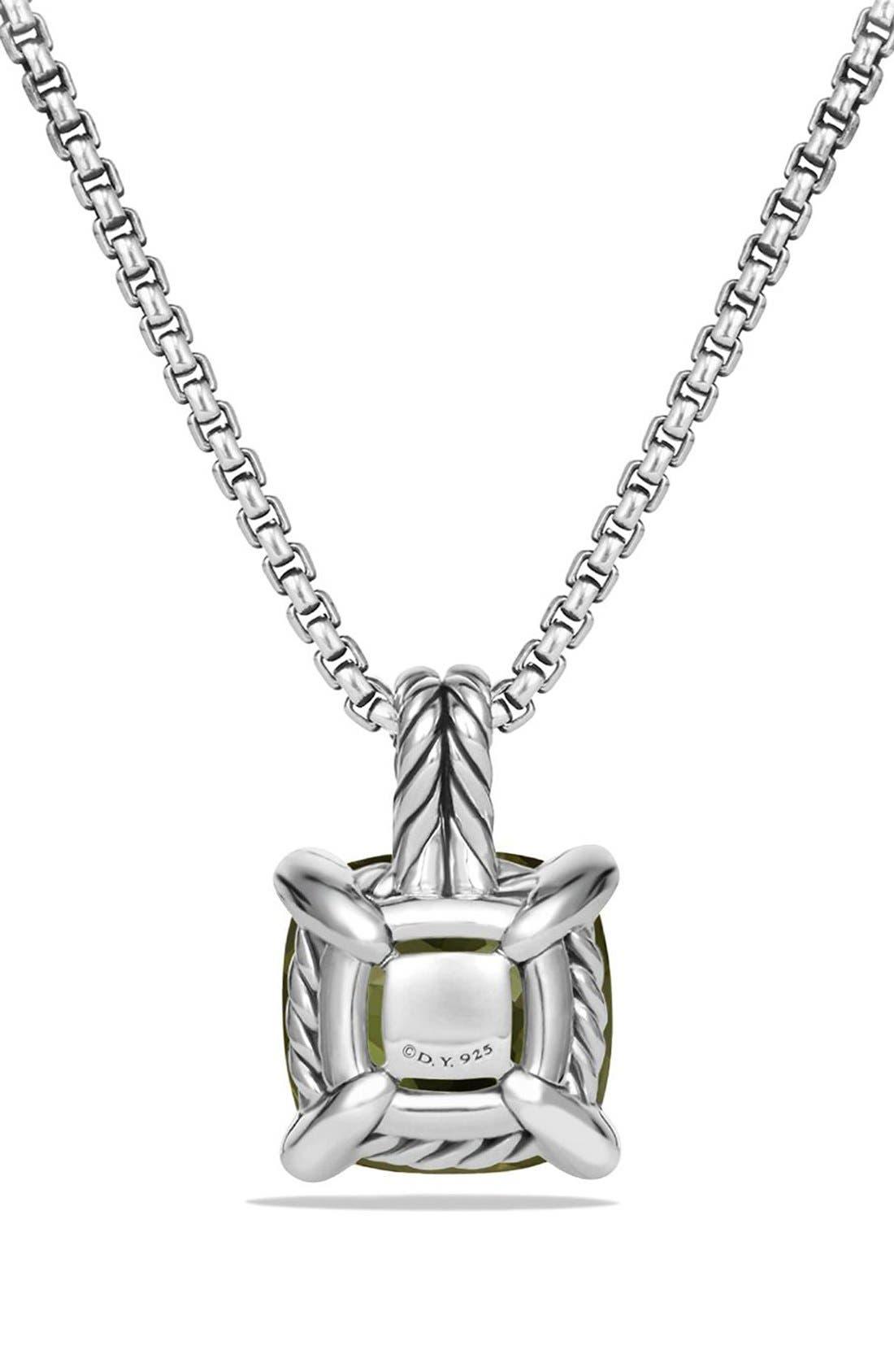 DAVID YURMAN, 'Châtelaine' Pendant Necklace with Semiprecious Stone & Diamonds, Alternate thumbnail 4, color, SILVER/ CITRINE/ HEMATINE