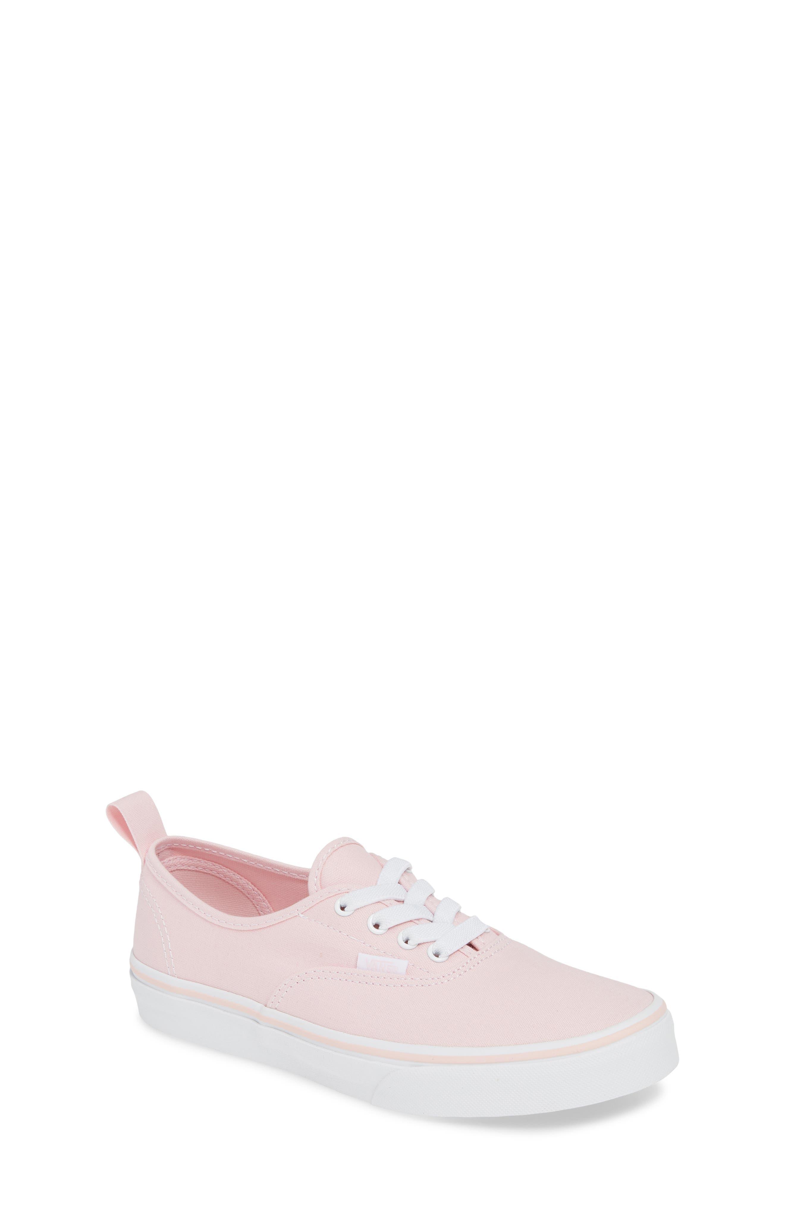 VANS, Authentic Elastic Lace Sneaker, Main thumbnail 1, color, CHALK PINK/ TRUE WHITE