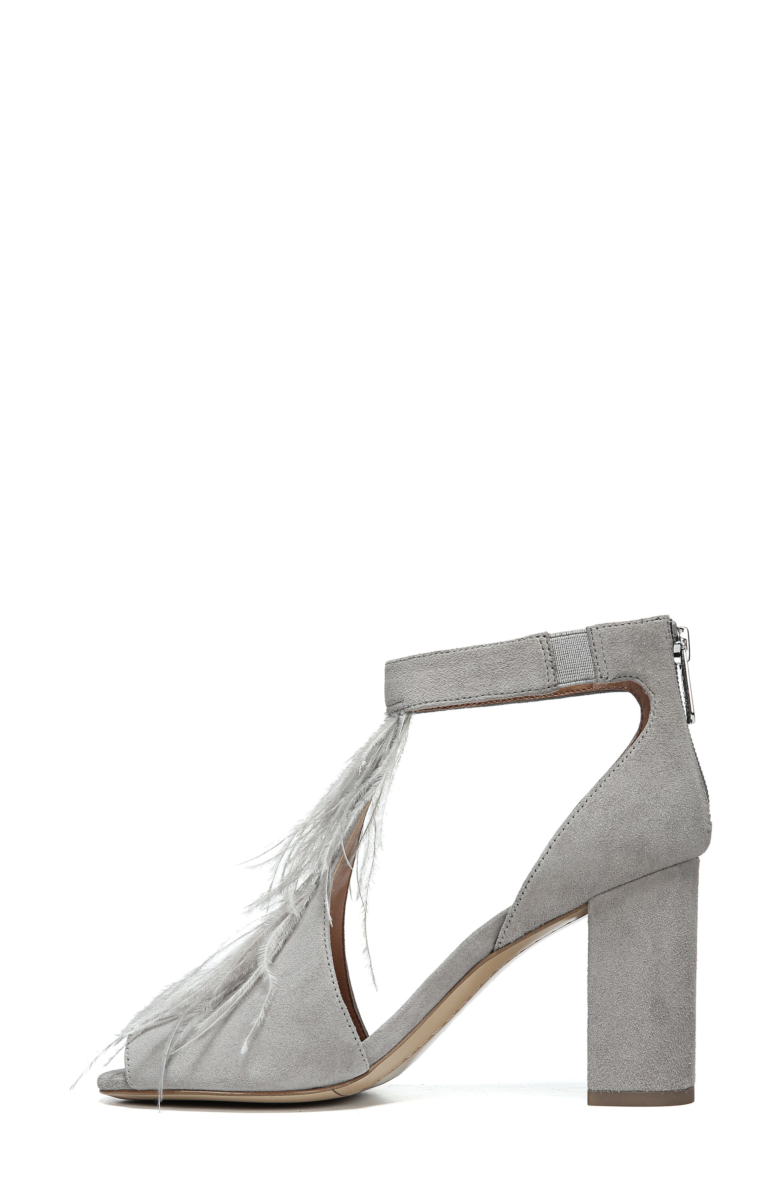 SARTO BY FRANCO SARTO, Olivette Sandal, Alternate thumbnail 8, color, GREYSTONE LEATHER