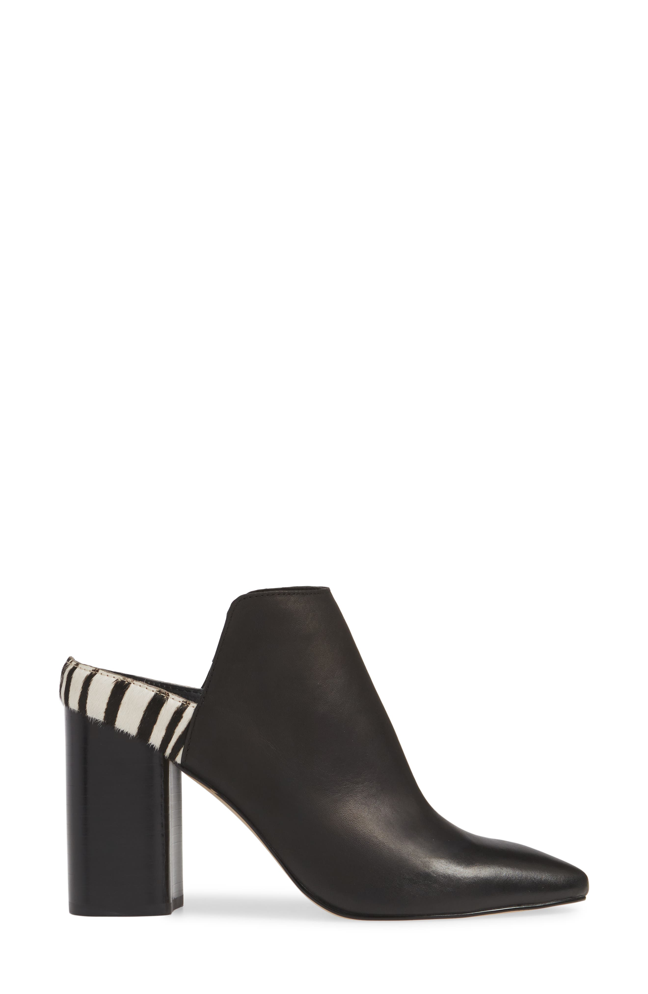 DOLCE VITA, Renly Mule, Alternate thumbnail 3, color, ZEBRA PRINT CALF HAIR/ LEATHER