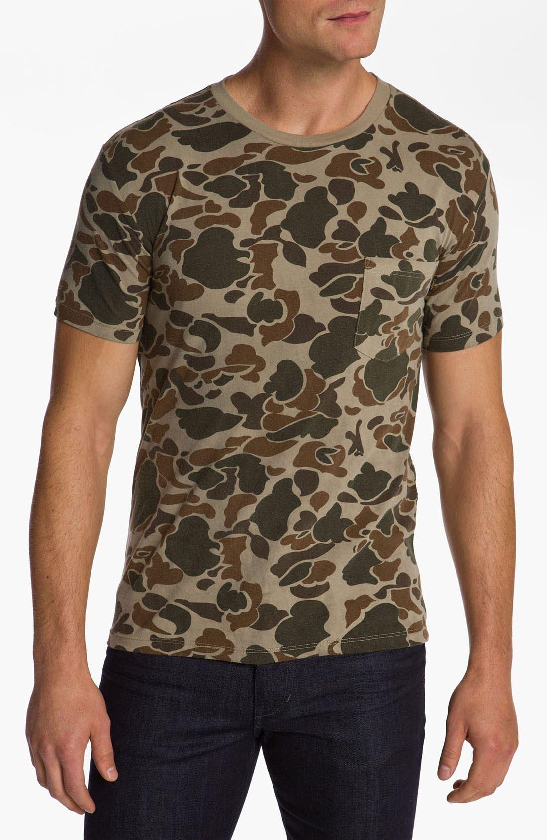 OBEY, Camo Pocket T-Shirt, Main thumbnail 1, color, 230
