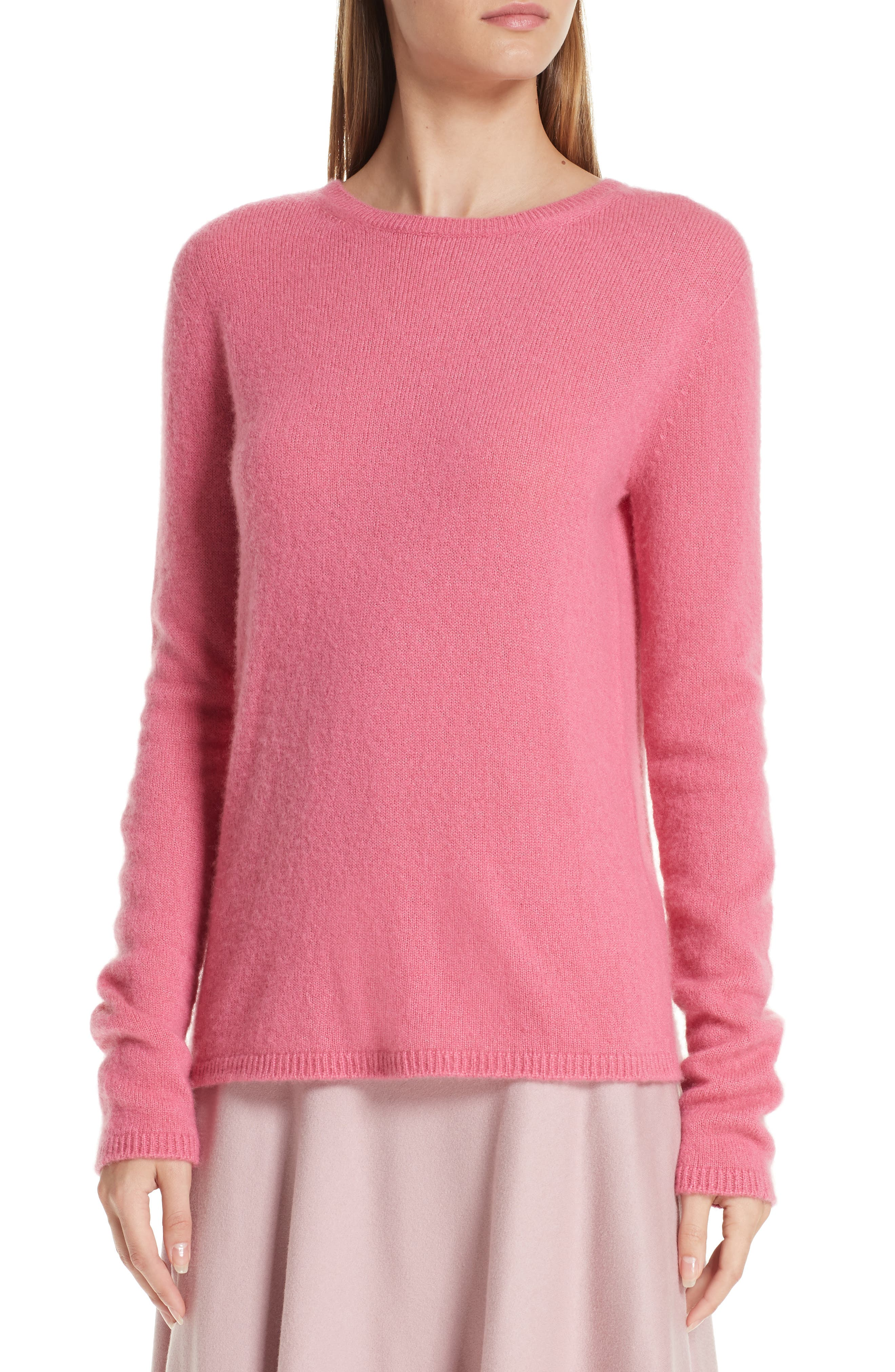 MAX MARA, Stelvio Cashmere & Silk Sweater, Alternate thumbnail 4, color, 672