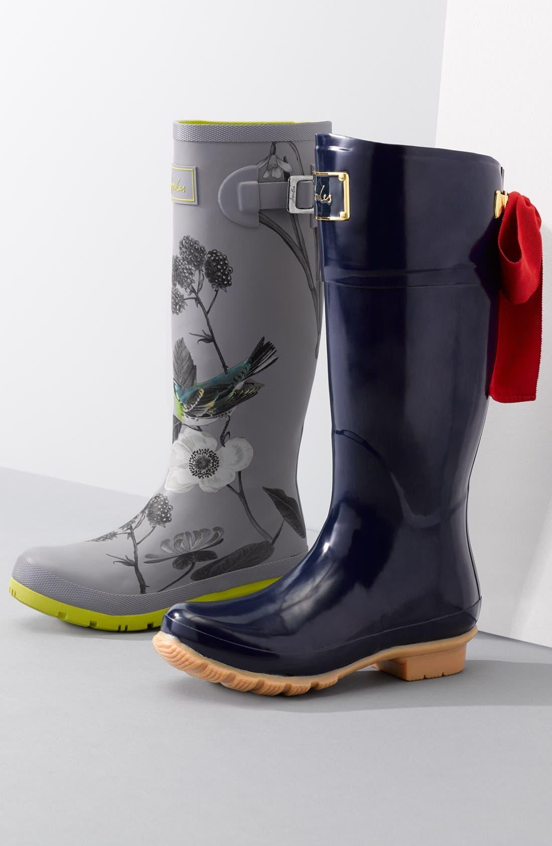 JOULES, 'Evedon' Rain Boot, Main thumbnail 1, color, 411