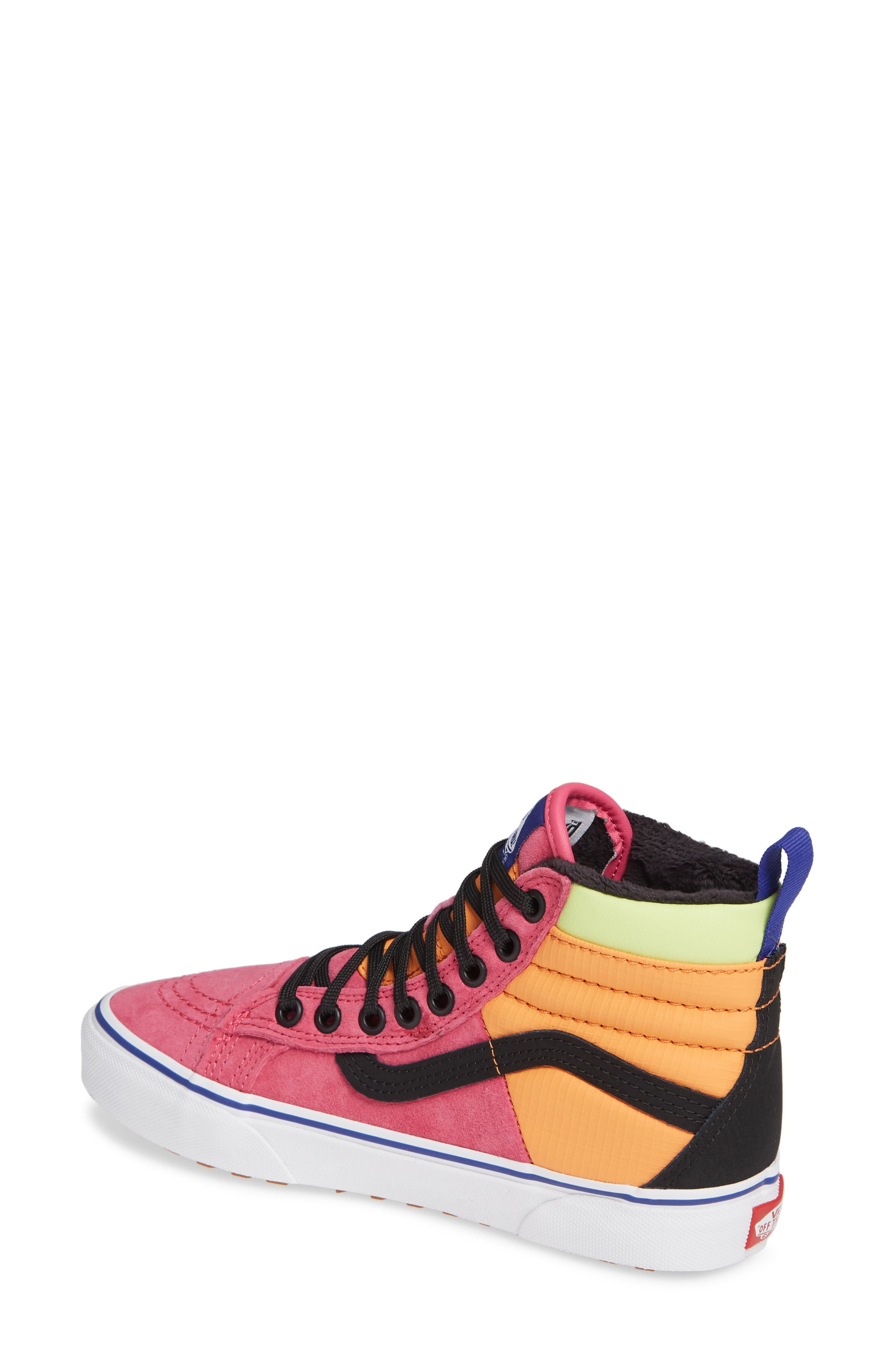 VANS, Sk8-Hi 46 MTE DX Sneaker, Alternate thumbnail 2, color, PINK YARROW/ TANGERINE/ BLACK