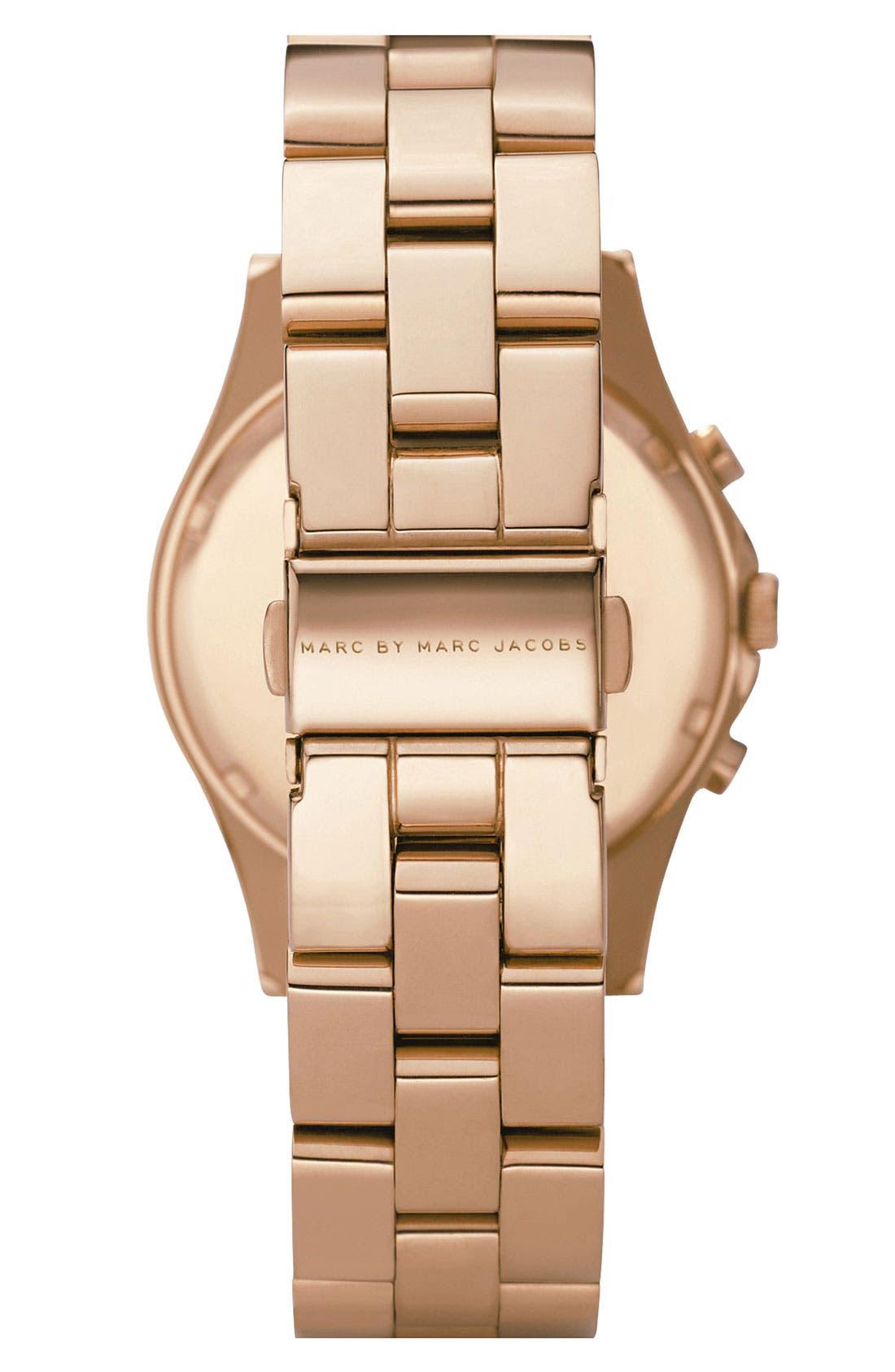 MARC JACOBS, 'Henry' Chronograph Bracelet Watch, 37mm, Alternate thumbnail 2, color, 710
