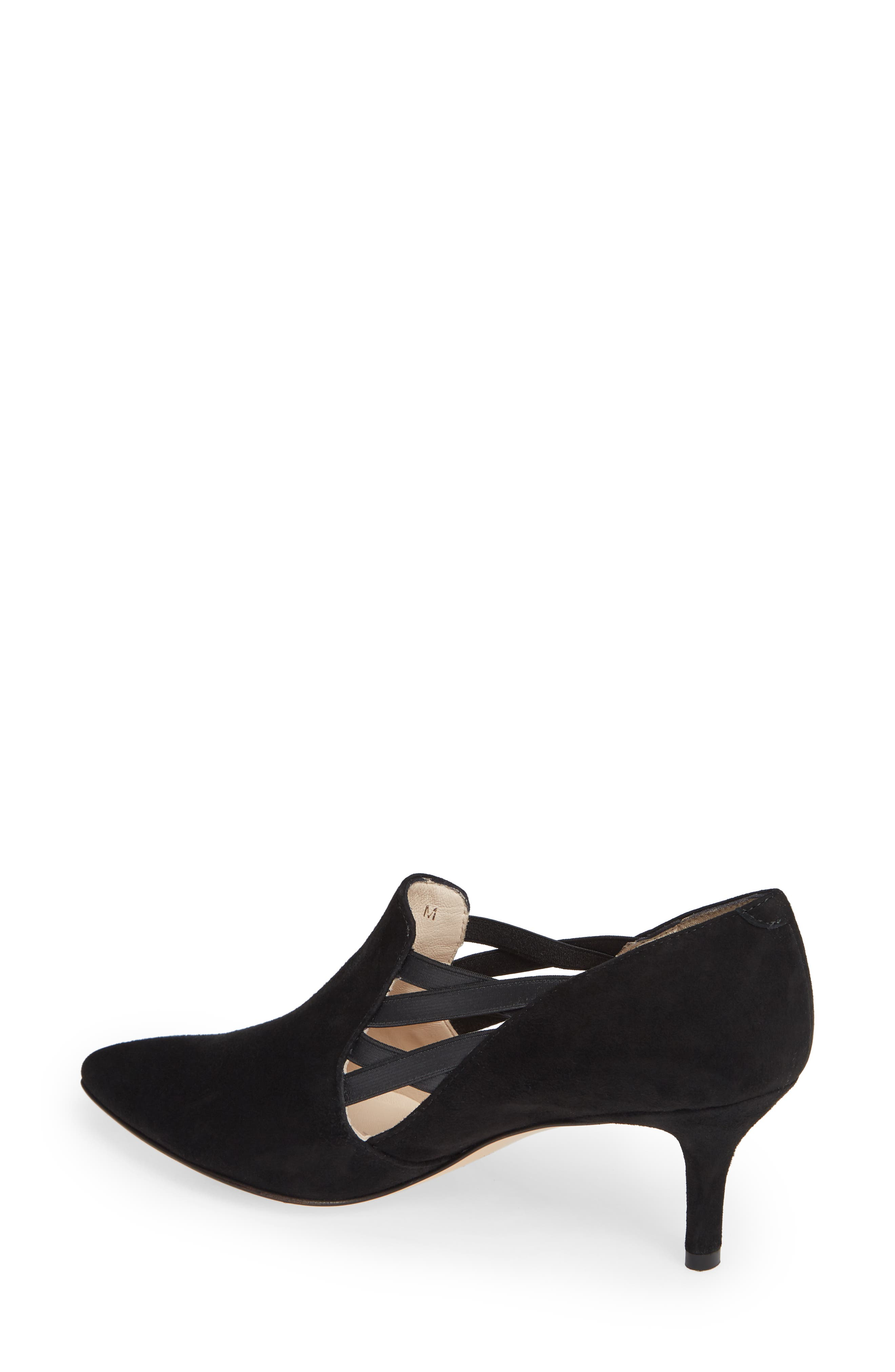 AMALFI BY RANGONI, Paolo Pump, Alternate thumbnail 2, color, BLACK SUEDE