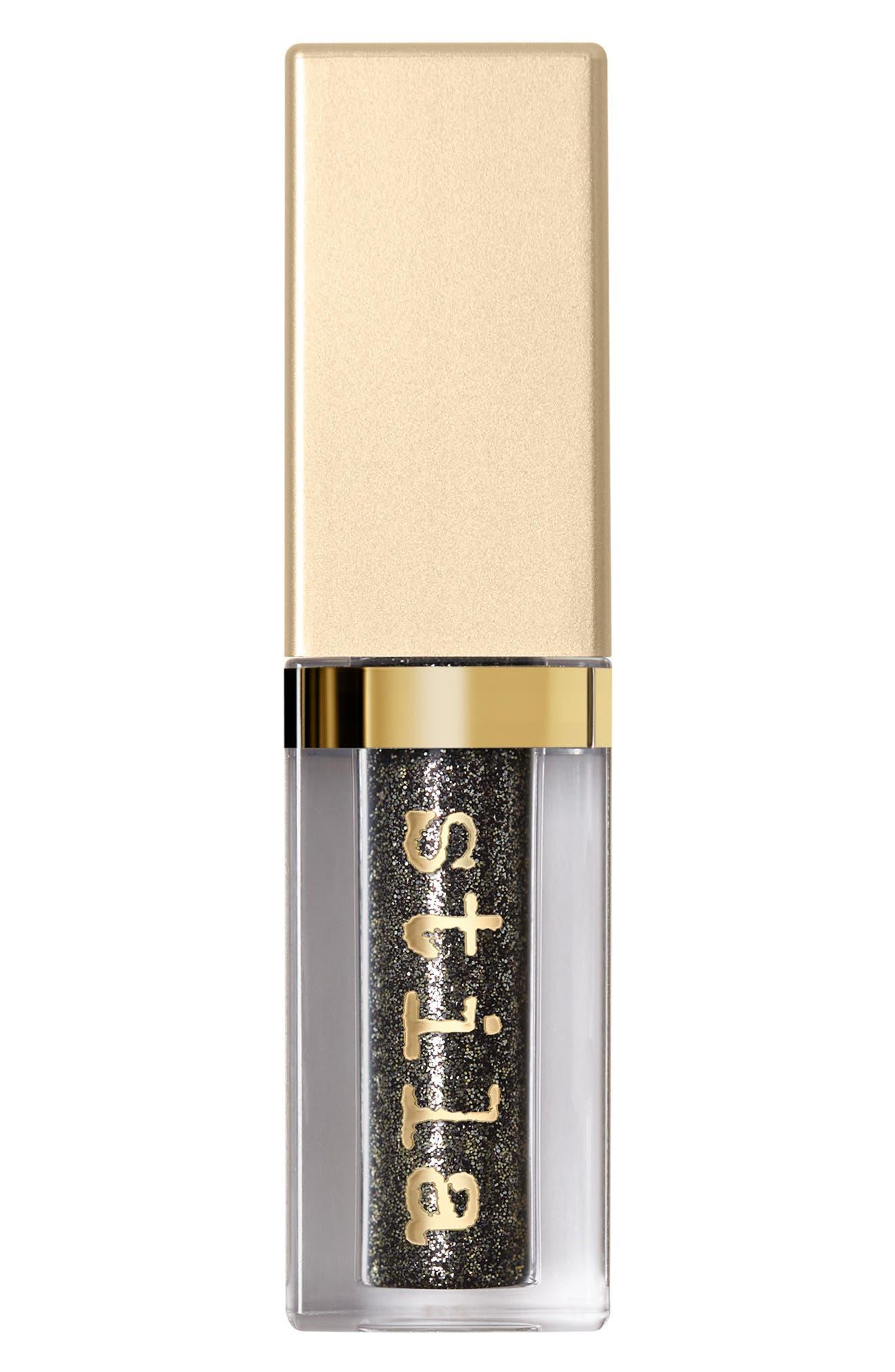 STILA, Magnificent Metals Glitter & Glow Liquid Eyeshadow, Alternate thumbnail 6, color, MOLTEN MIDNIGHT