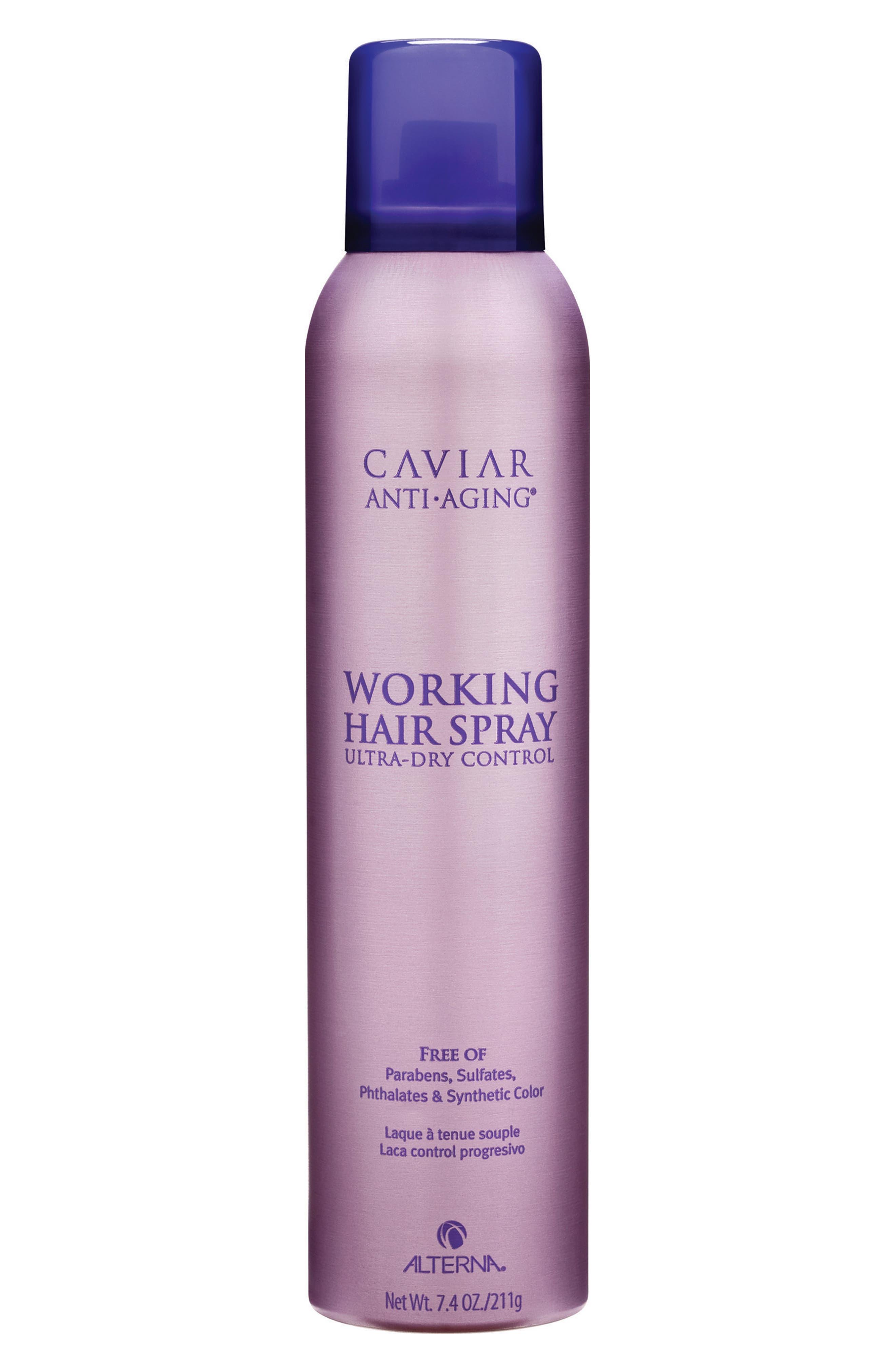 ALTERNA<SUP>®</SUP>, Caviar Anti-Aging Working Hair Spray, Main thumbnail 1, color, 000