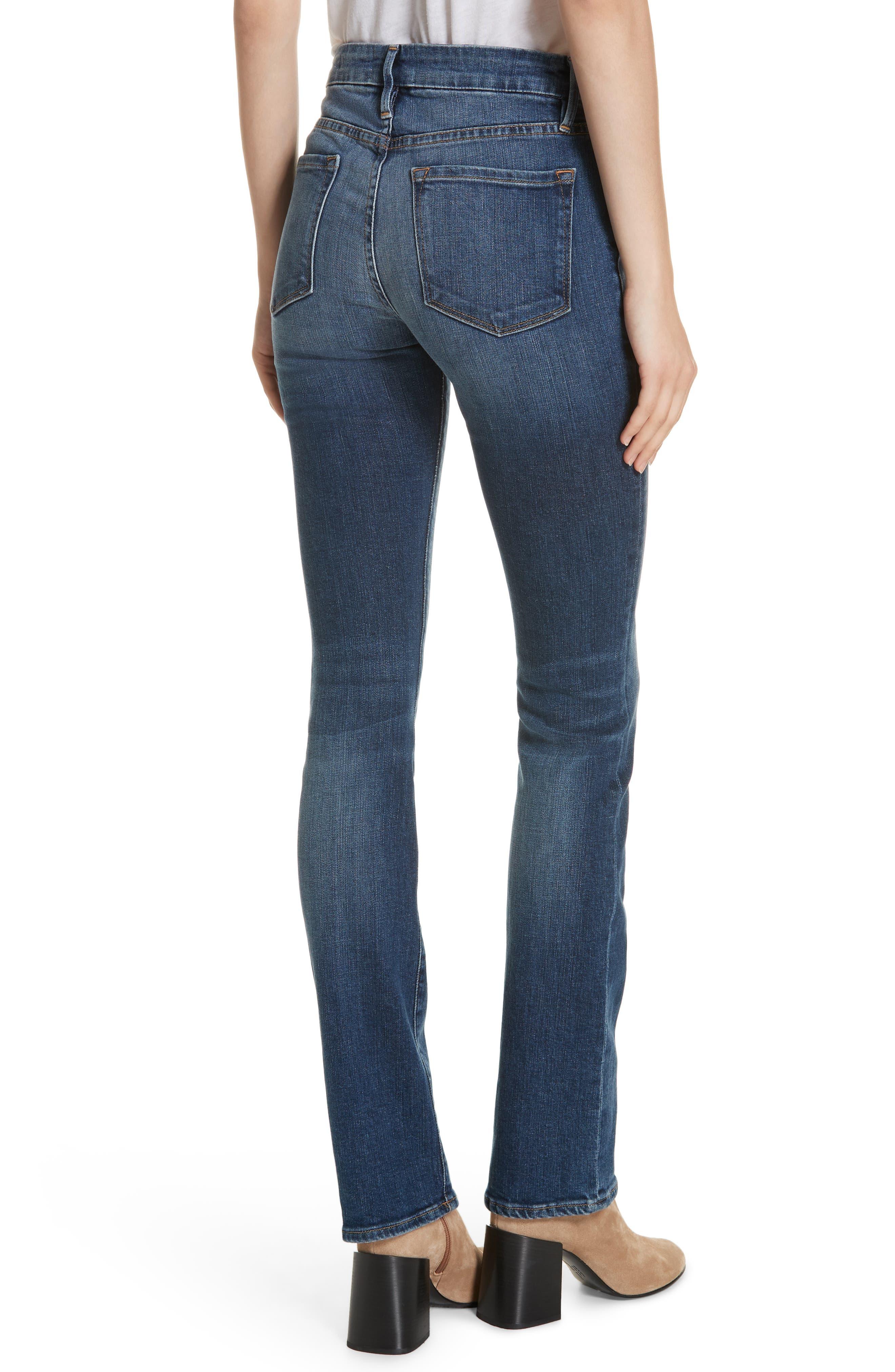 FRAME, Le Mini Boot Jeans, Alternate thumbnail 2, color, BLENDON