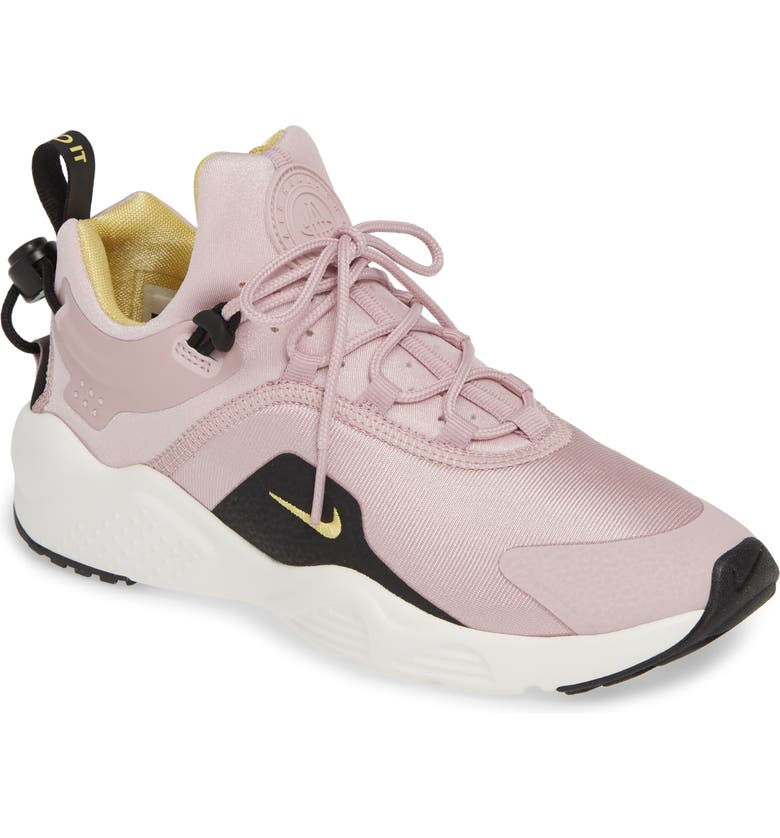 uk availability 168a3 e4020 Nike Women s Air Huarache City Move Low Top Sneakers In Plum Chalk  Celery   Black