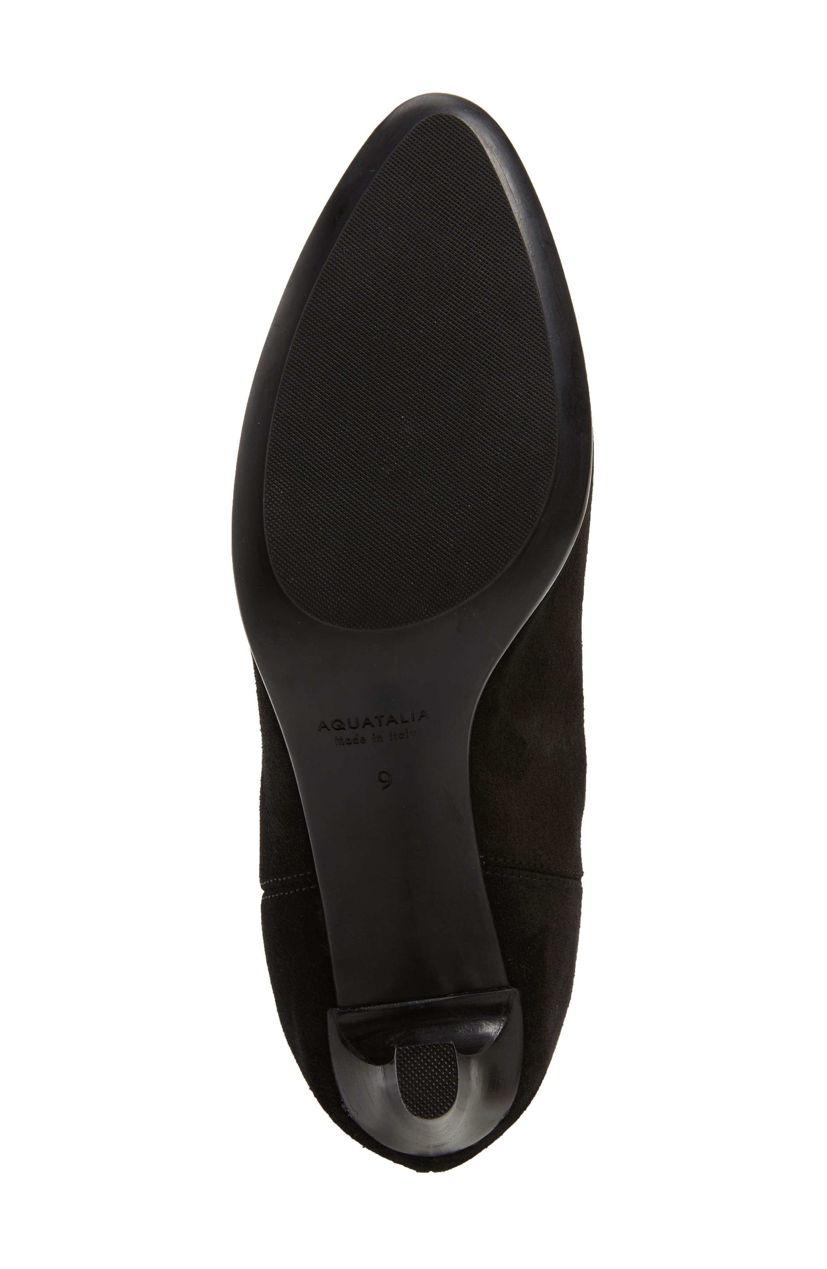 AQUATALIA, Dahliana Weatherproof Knee High Boot, Alternate thumbnail 6, color, BLACK