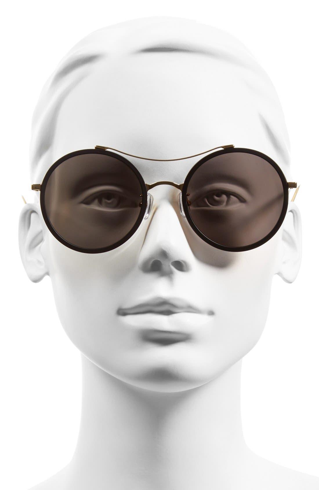 GENTLE MONSTER, 52mm Round Sunglasses, Alternate thumbnail 2, color, 001