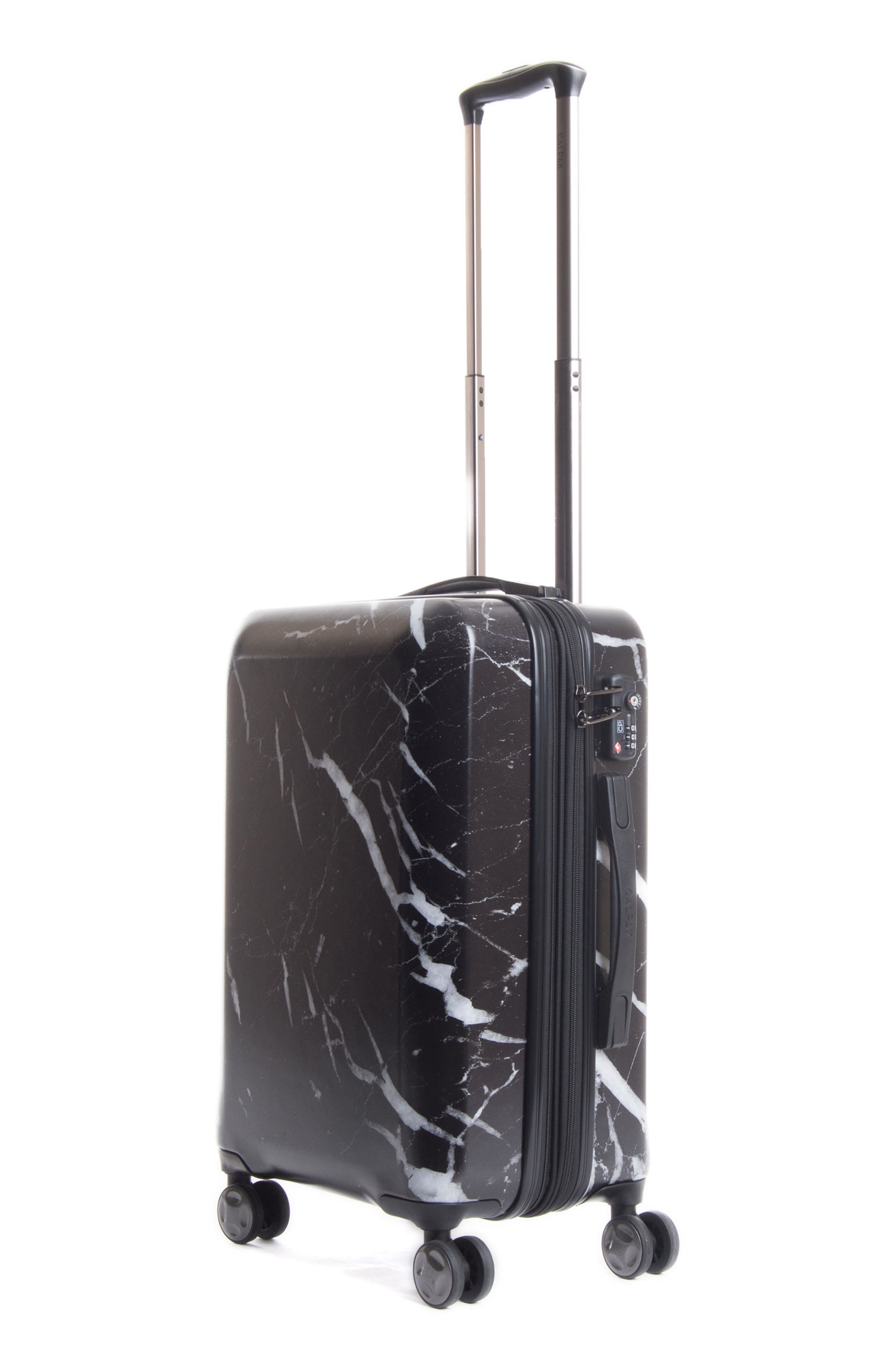 CALPAK, Astyll 22-Inch Rolling Spinner Suitcase, Alternate thumbnail 3, color, MIDNIGHT MARBLE