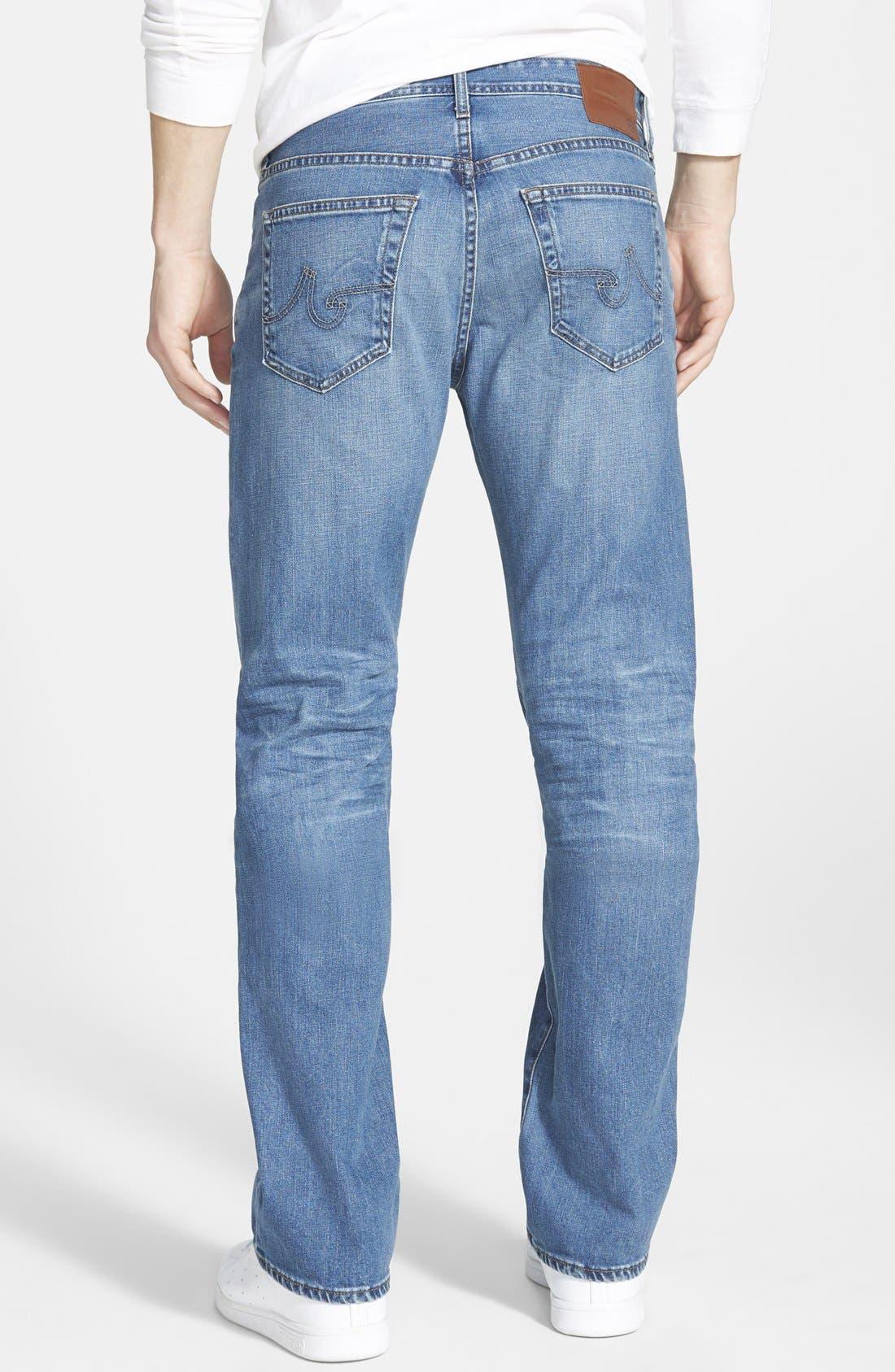 AG, 'Protégé' Straight Leg Jeans, Alternate thumbnail 4, color, 428