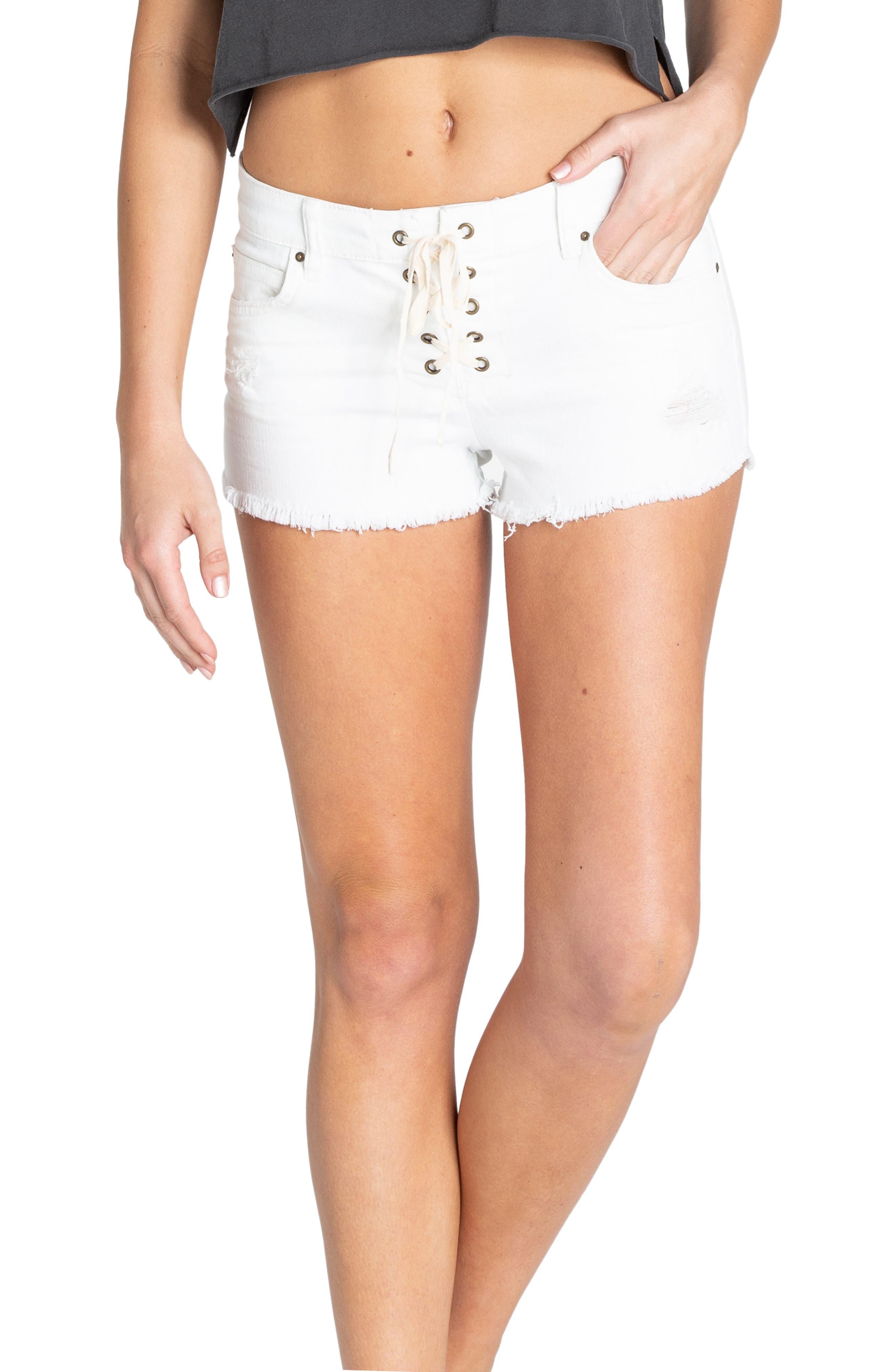 BILLABONG Lite Hearted Denim Shorts, Main, color, 300