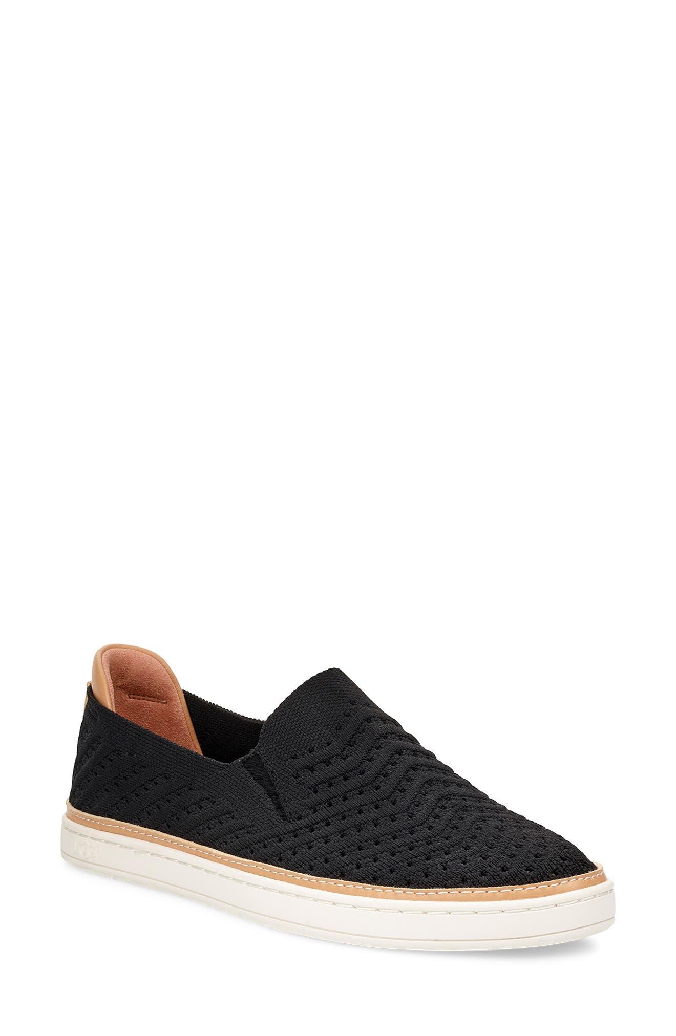 UGG<SUP>®</SUP>, Sammy Slip-On Sneaker, Main thumbnail 1, color, BLACK FABRIC