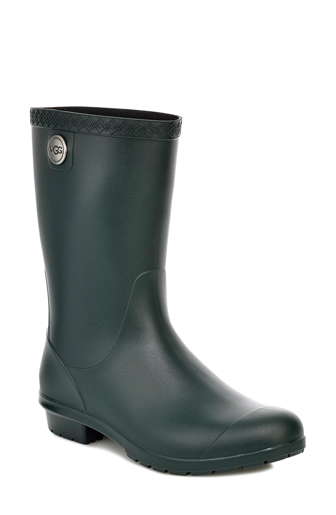 UGG<SUP>®</SUP>, Sienna Rain Boot, Main thumbnail 1, color, OLIVE RUBBER