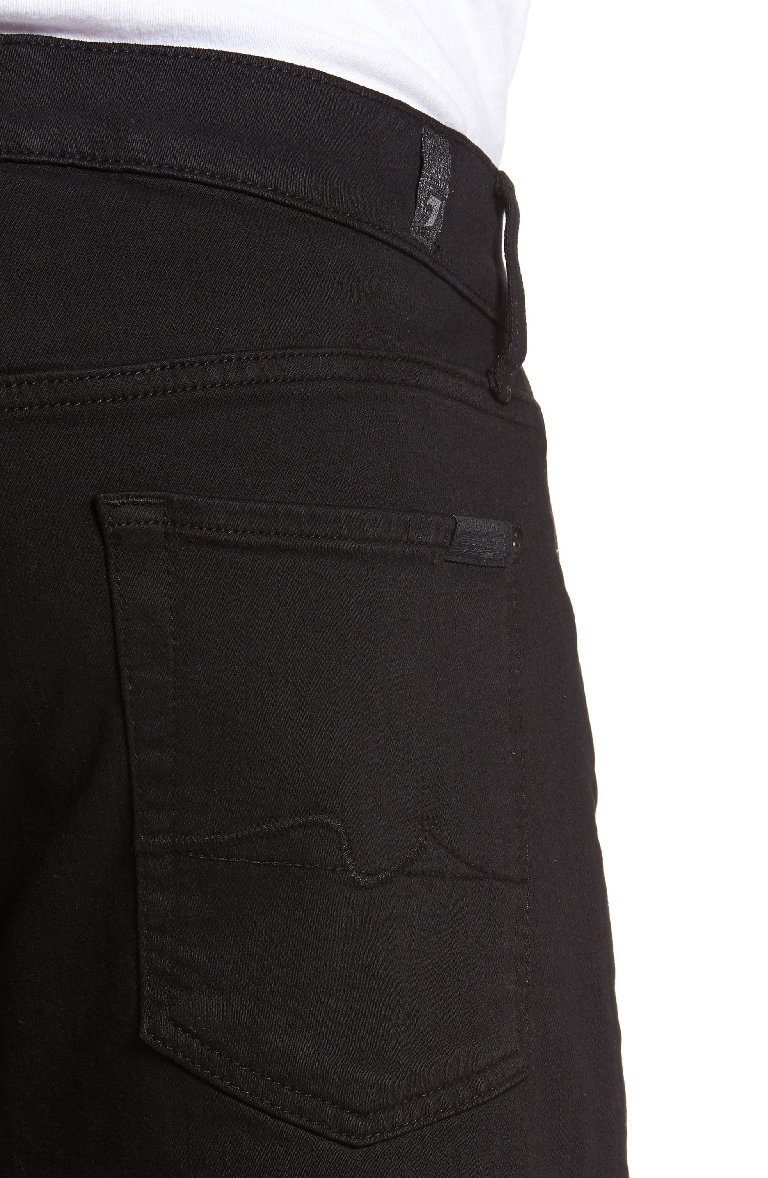 7 FOR ALL MANKIND<SUP>®</SUP>, Luxe Performance - Slimmy Slim Fit Jeans, Alternate thumbnail 4, color, ANNEX BLACK