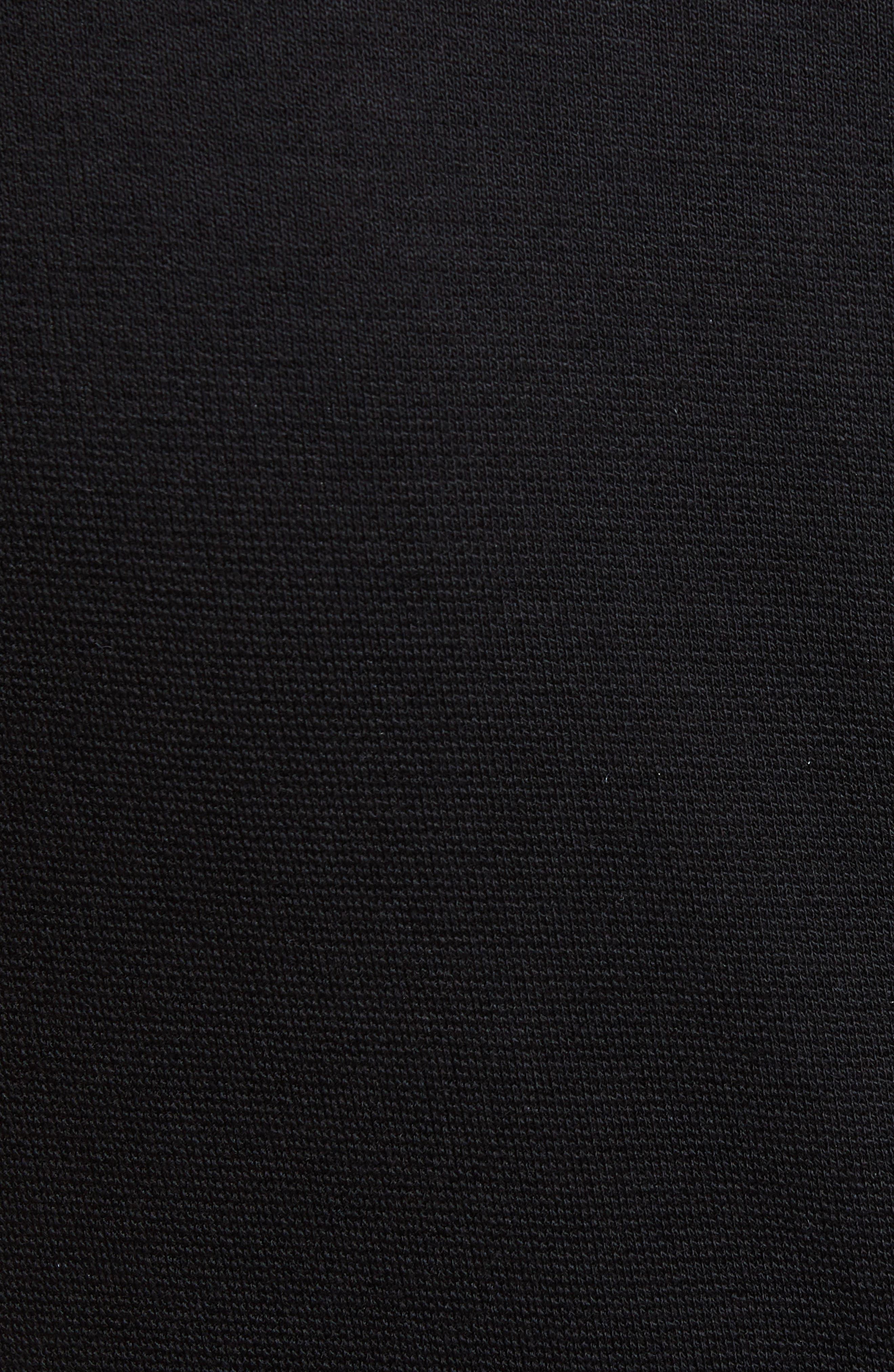 ROSETTA GETTY, Spiral Fringe Maxi Dress, Alternate thumbnail 5, color, BLACK