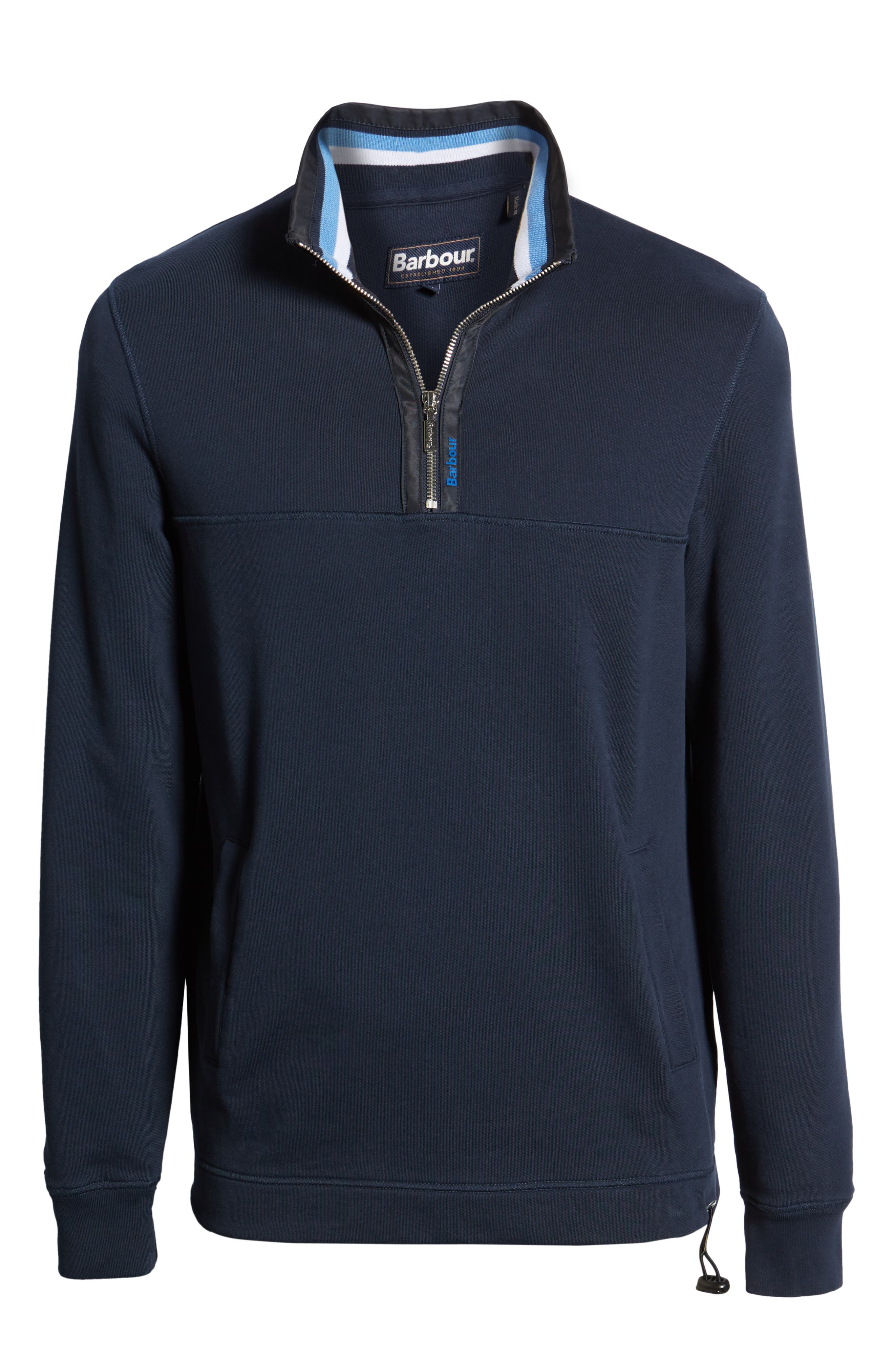BARBOUR, Seward Half Zip Pullover, Alternate thumbnail 7, color, NAVY
