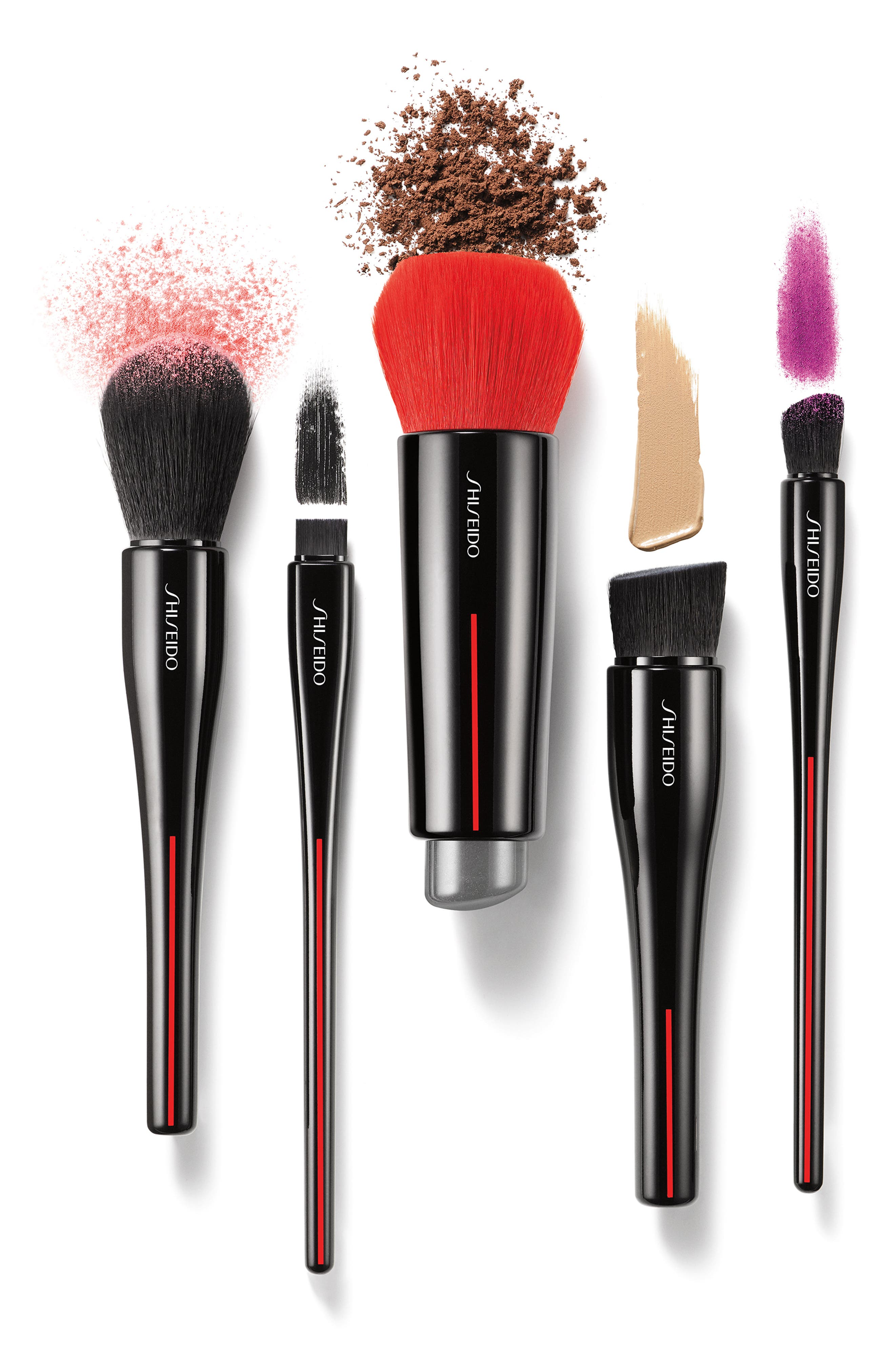SHISEIDO, Daiya Fude Face Duo Brush, Alternate thumbnail 3, color, NO COLOR