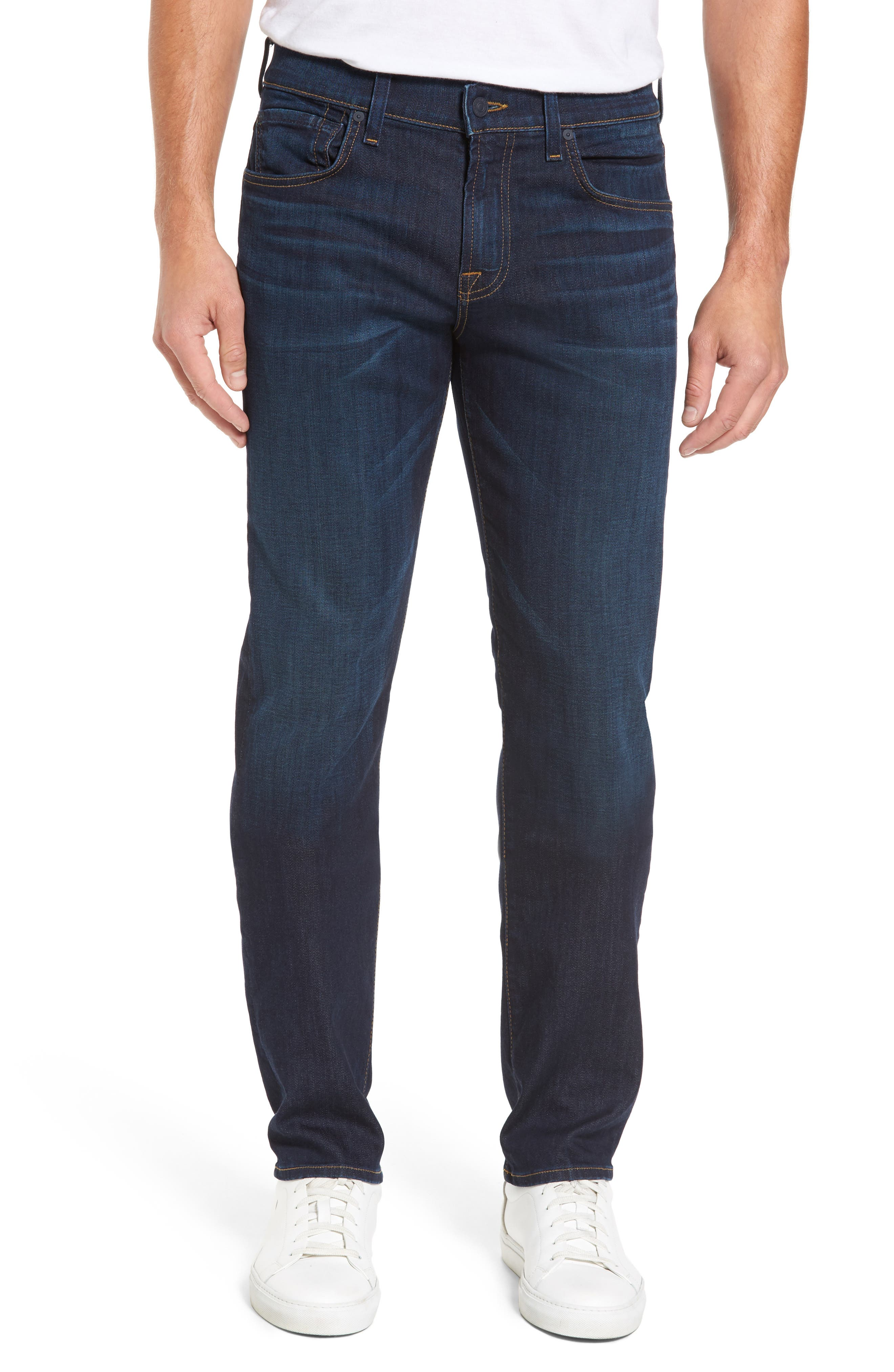 7 FOR ALL MANKIND<SUP>®</SUP>, Luxe Performance Straight Leg Jeans, Main thumbnail 1, color, NORTH PACIFIC