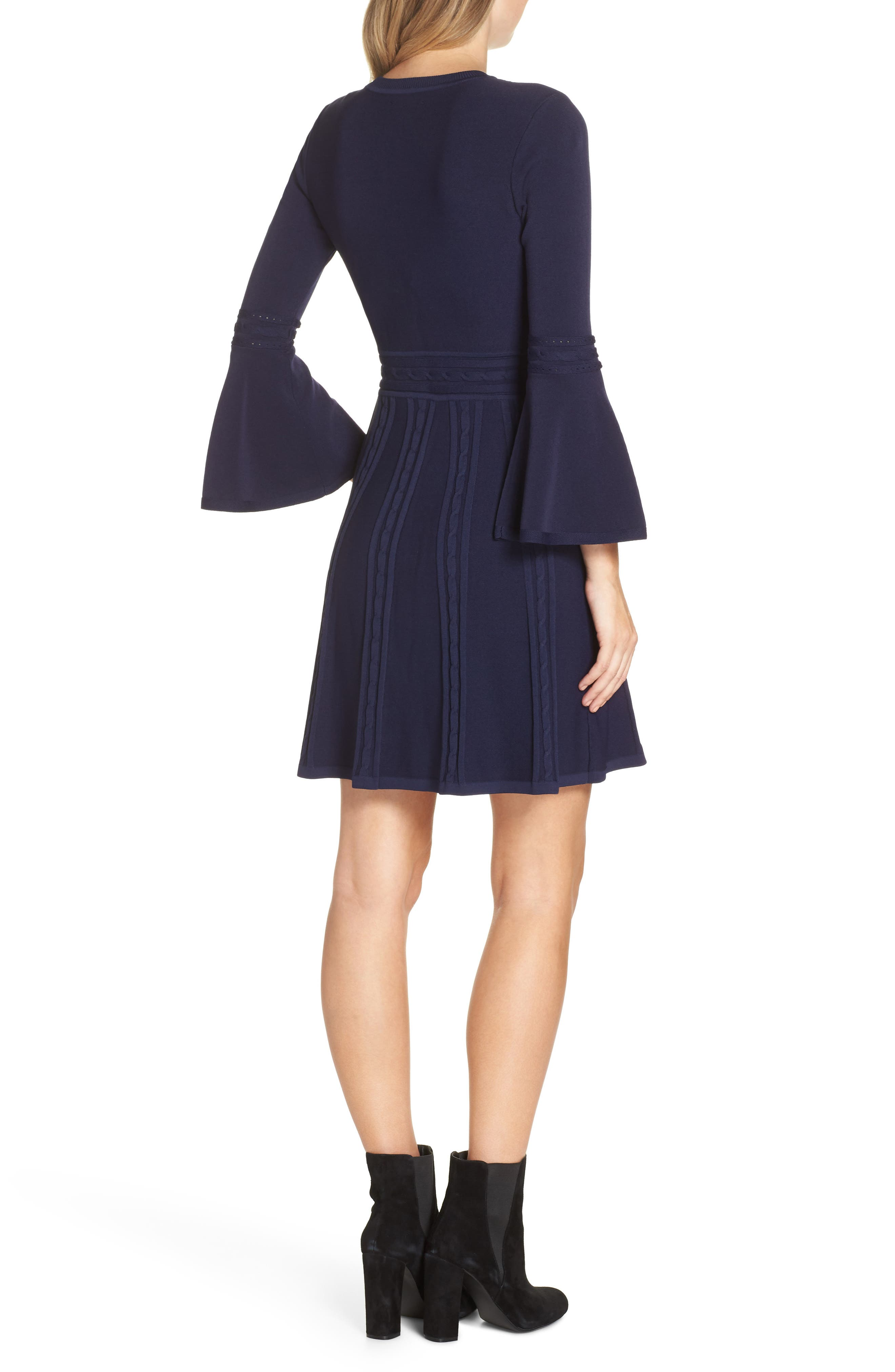 ELIZA J, Bell Sleeve Sweater Dress, Alternate thumbnail 2, color, 410