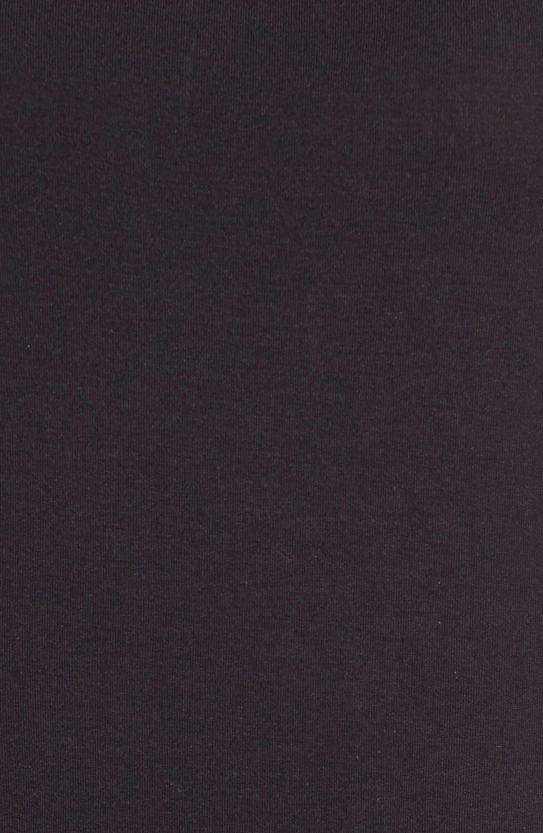 HALOGEN<SUP>®</SUP>, Modal Jersey V-Neck Tee, Alternate thumbnail 5, color, BLACK