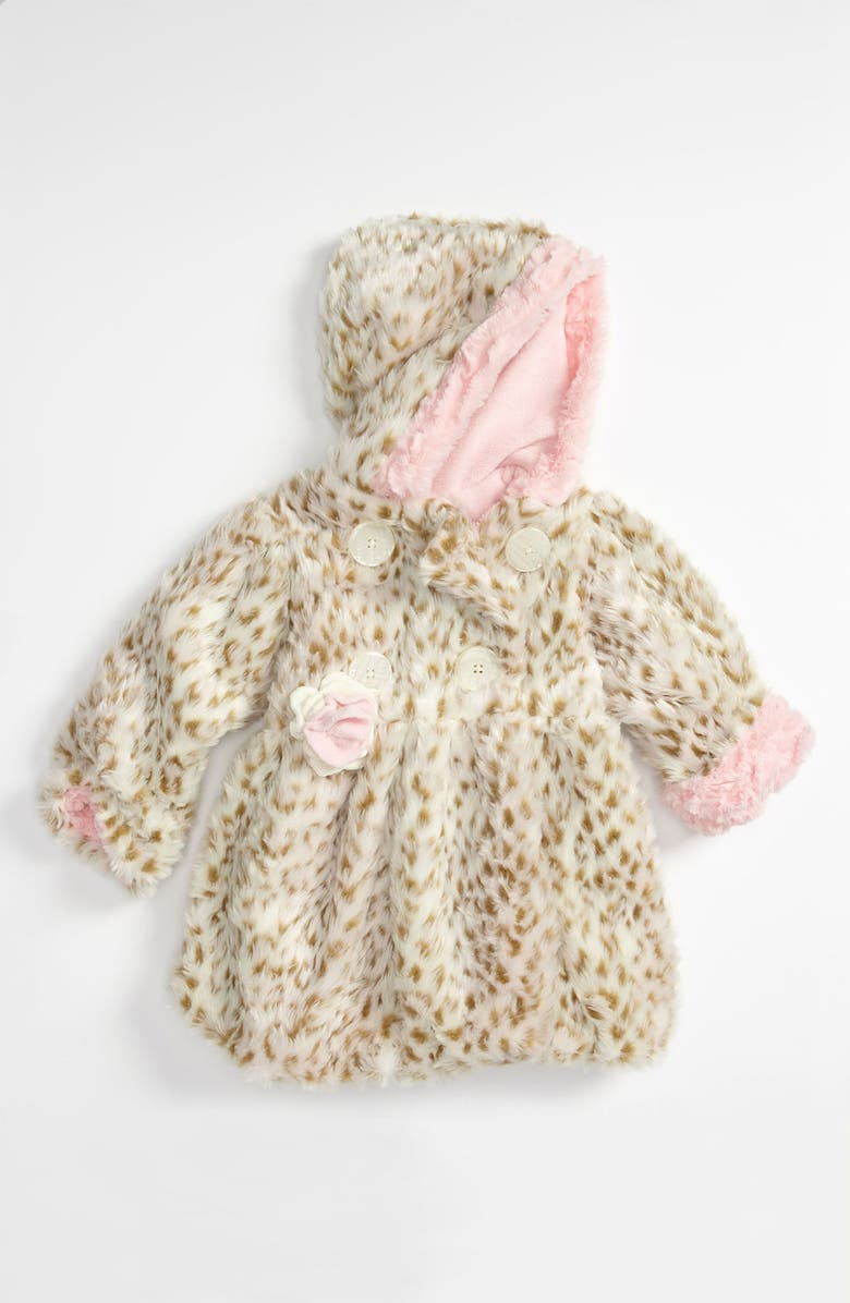 5f167448d8b7 Corky & Company 'Pink Leopard' Faux Fur Coat (Infant) | Nordstrom