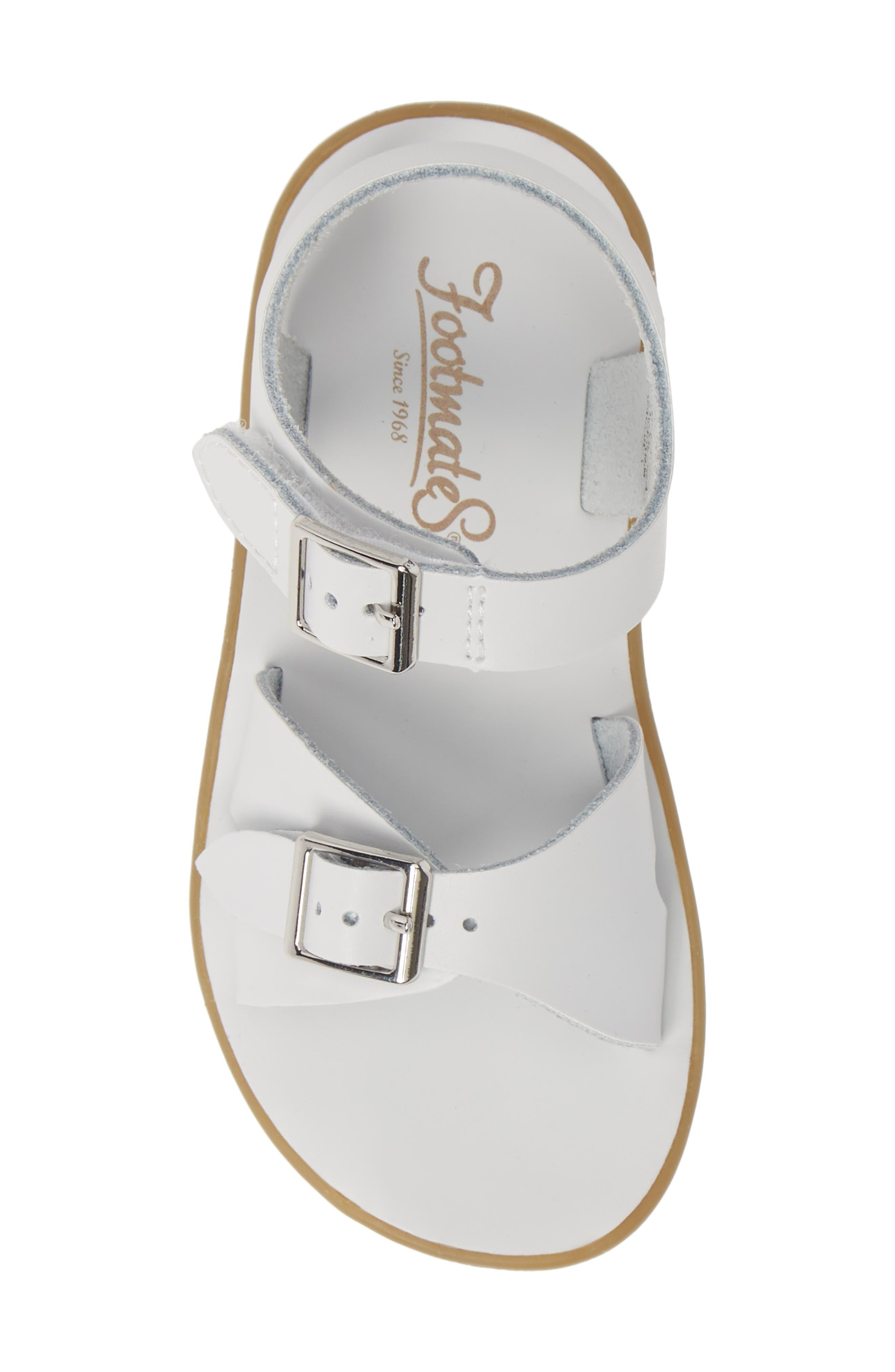 FOOTMATES, Tide Waterproof Sandal, Alternate thumbnail 5, color, WHITE