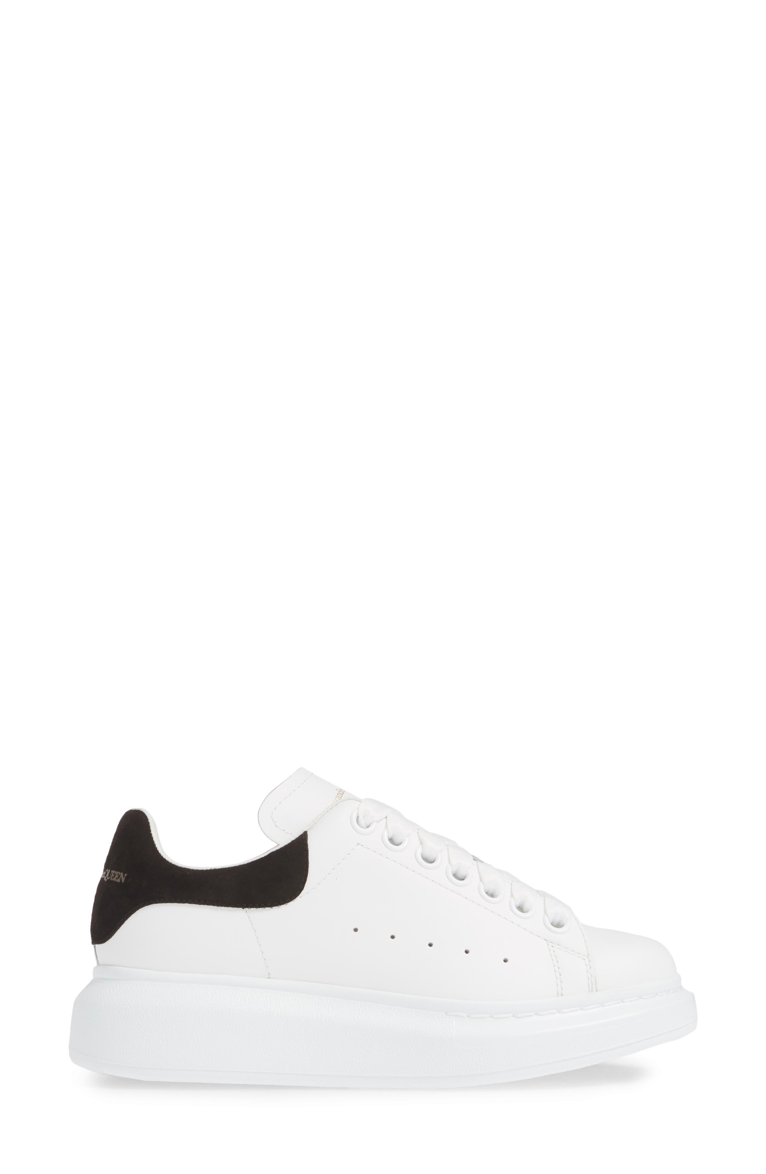 ALEXANDER MCQUEEN, Sneaker, Alternate thumbnail 3, color, WHITE BLACK